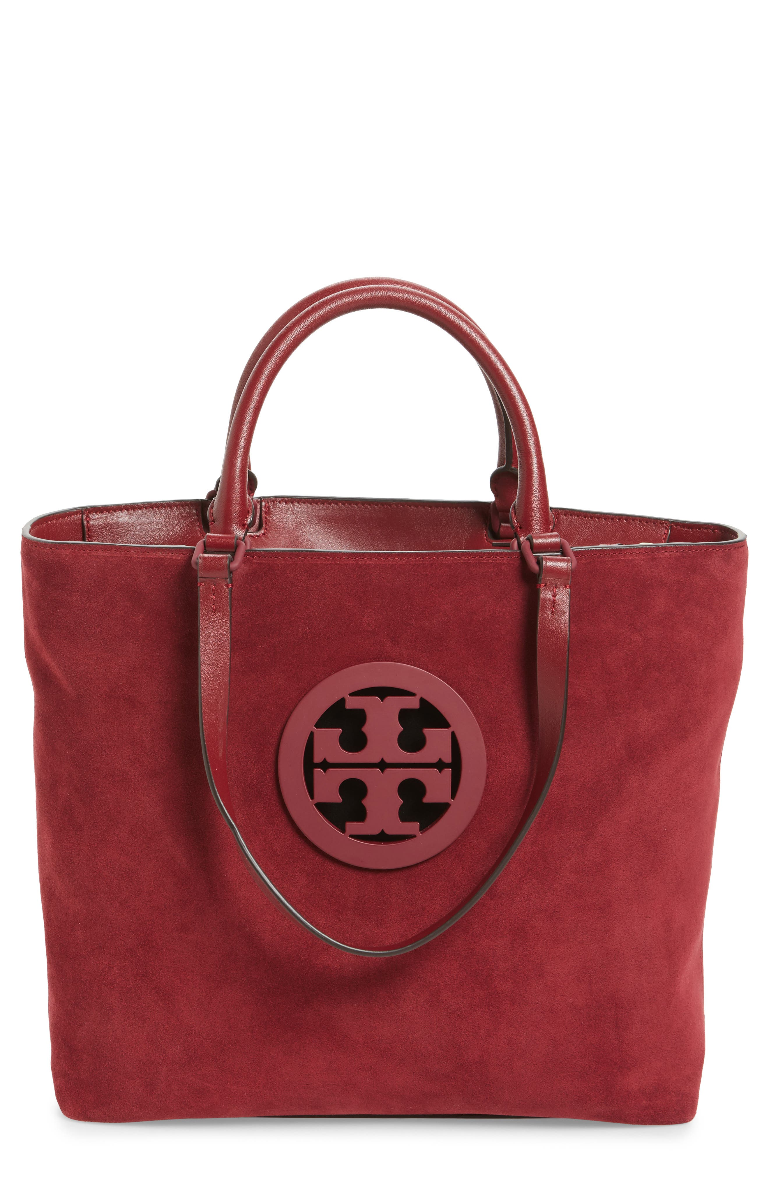 Main Image - Tory Burch Charlie Suede Tote