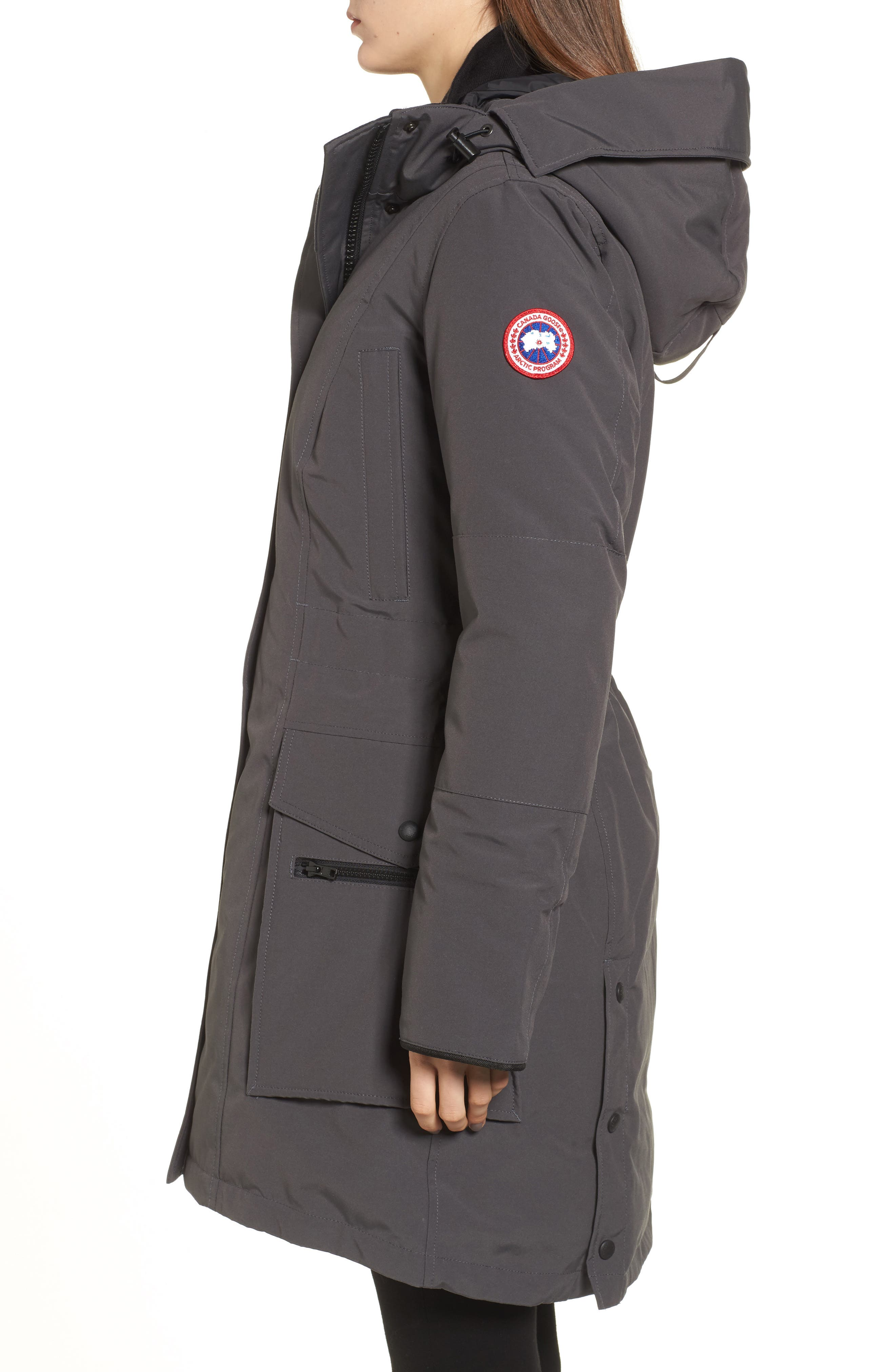 Kinley Insulated Parka,                             Alternate thumbnail 3, color,                             Graphite