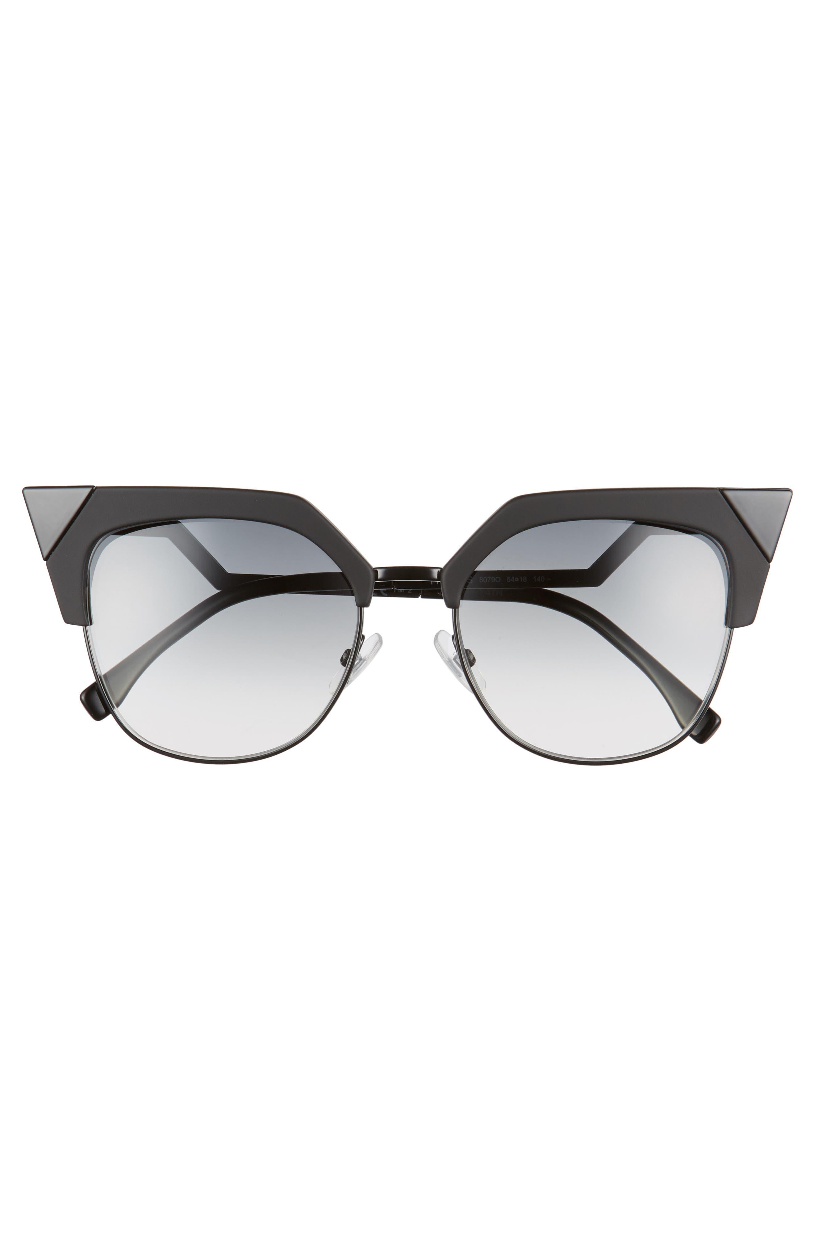 Alternate Image 3  - Fendi 54mm Metal Tipped Cat Eye Sunglasses