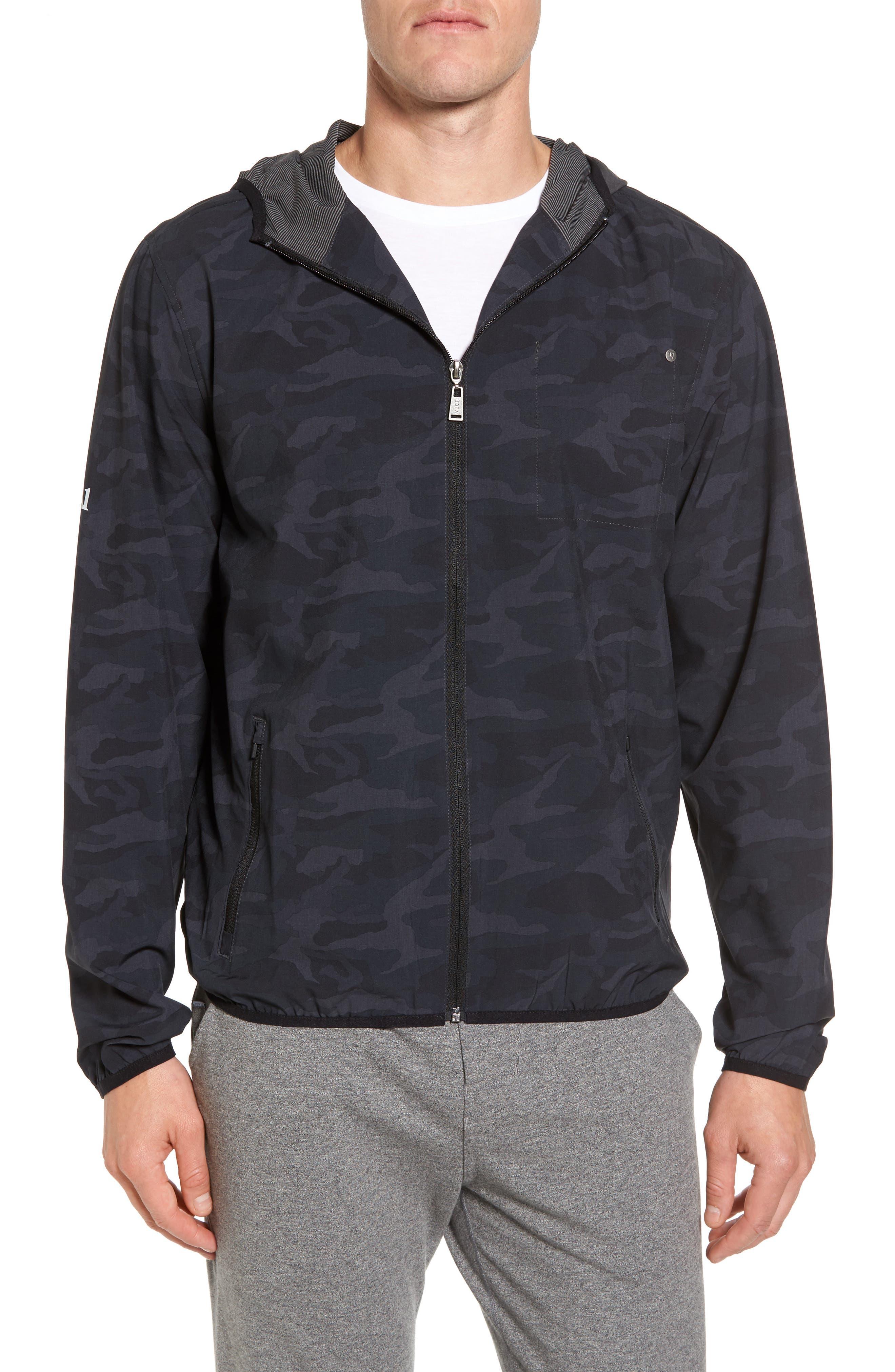 Outdoor Training Shell Jacket,                         Main,                         color, Black Camo