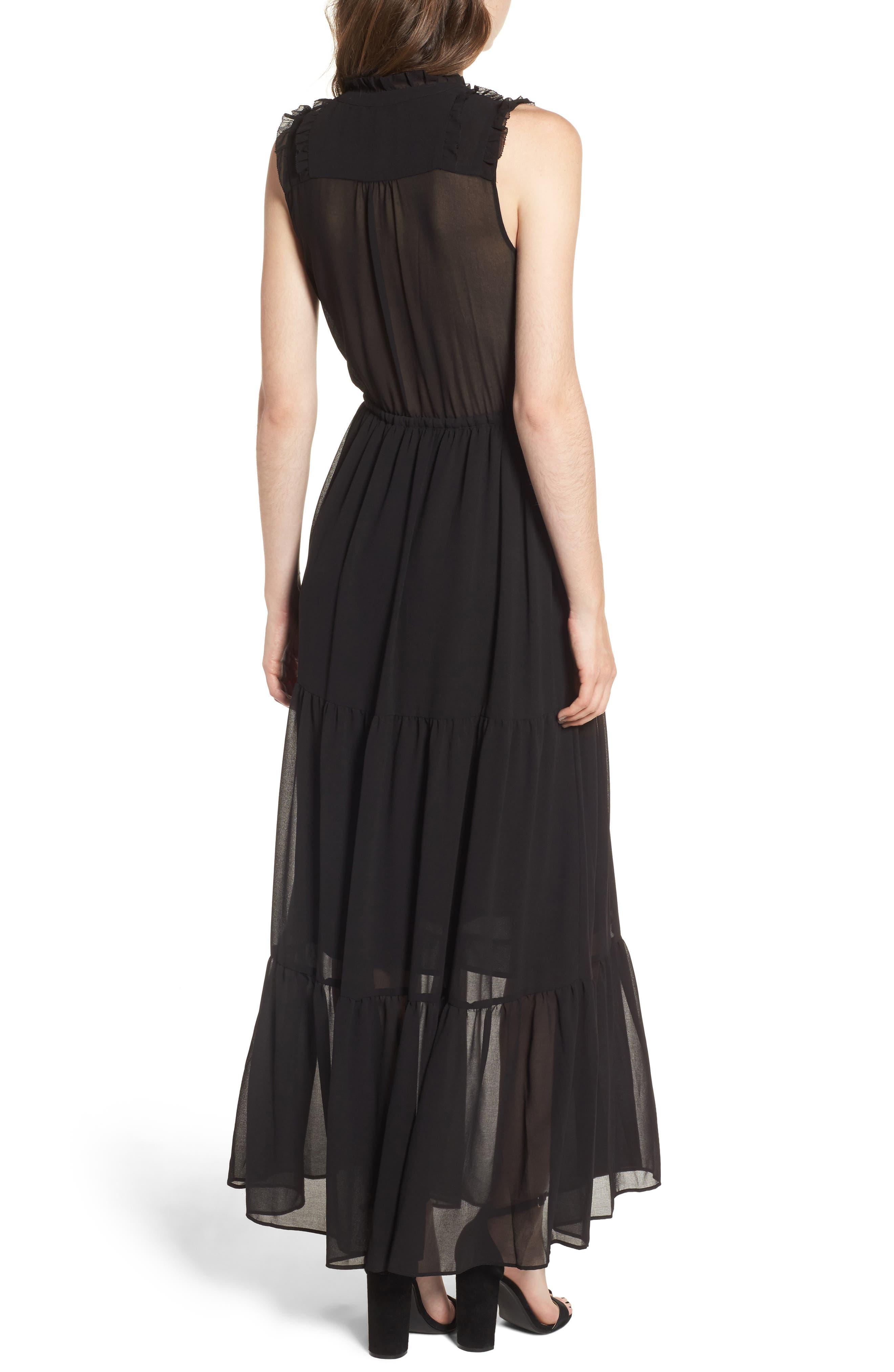 Ami Maxi Dress,                             Alternate thumbnail 2, color,                             Black