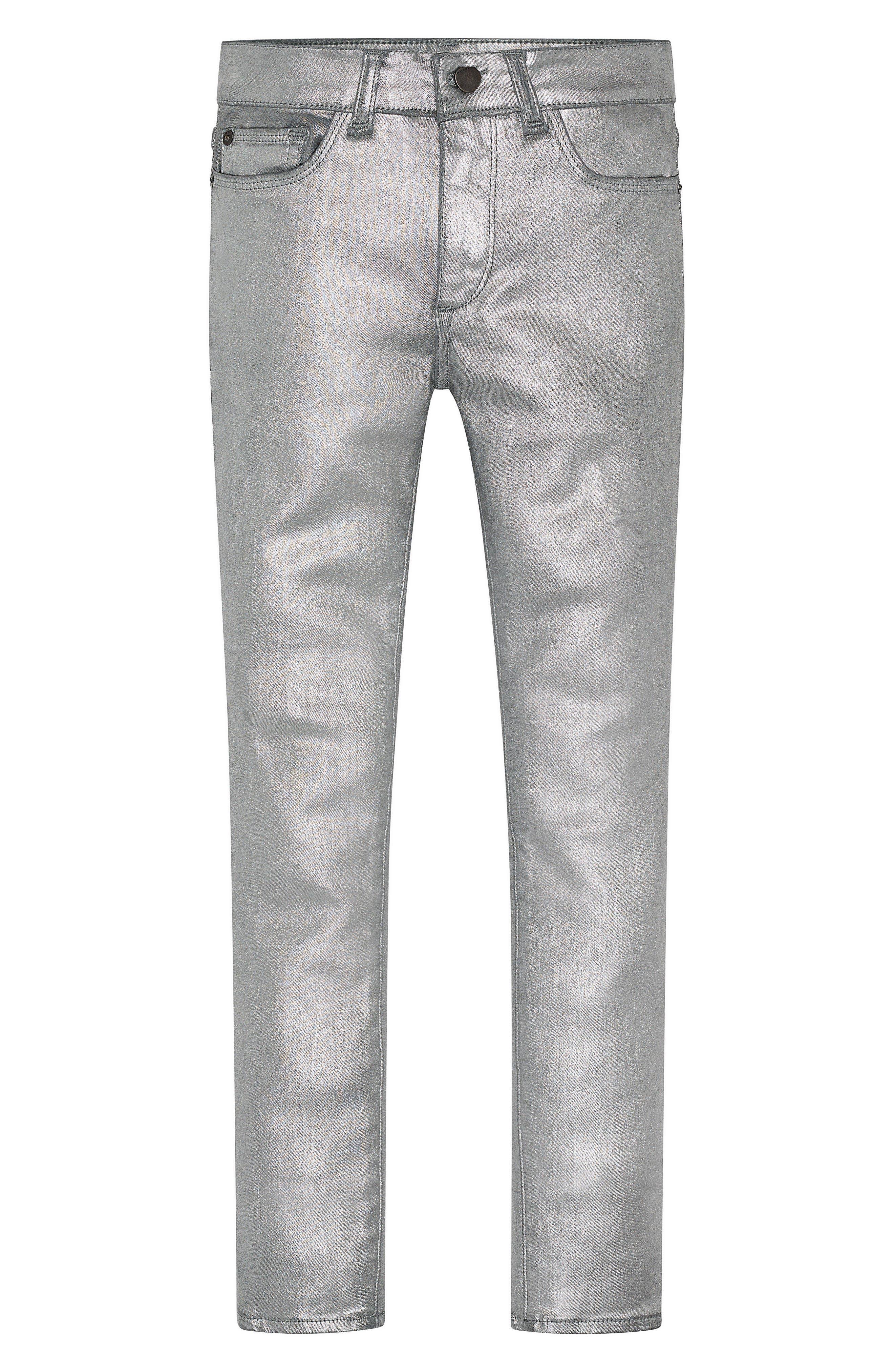 Chloe Coated Skinny Jeans,                         Main,                         color, Silverado