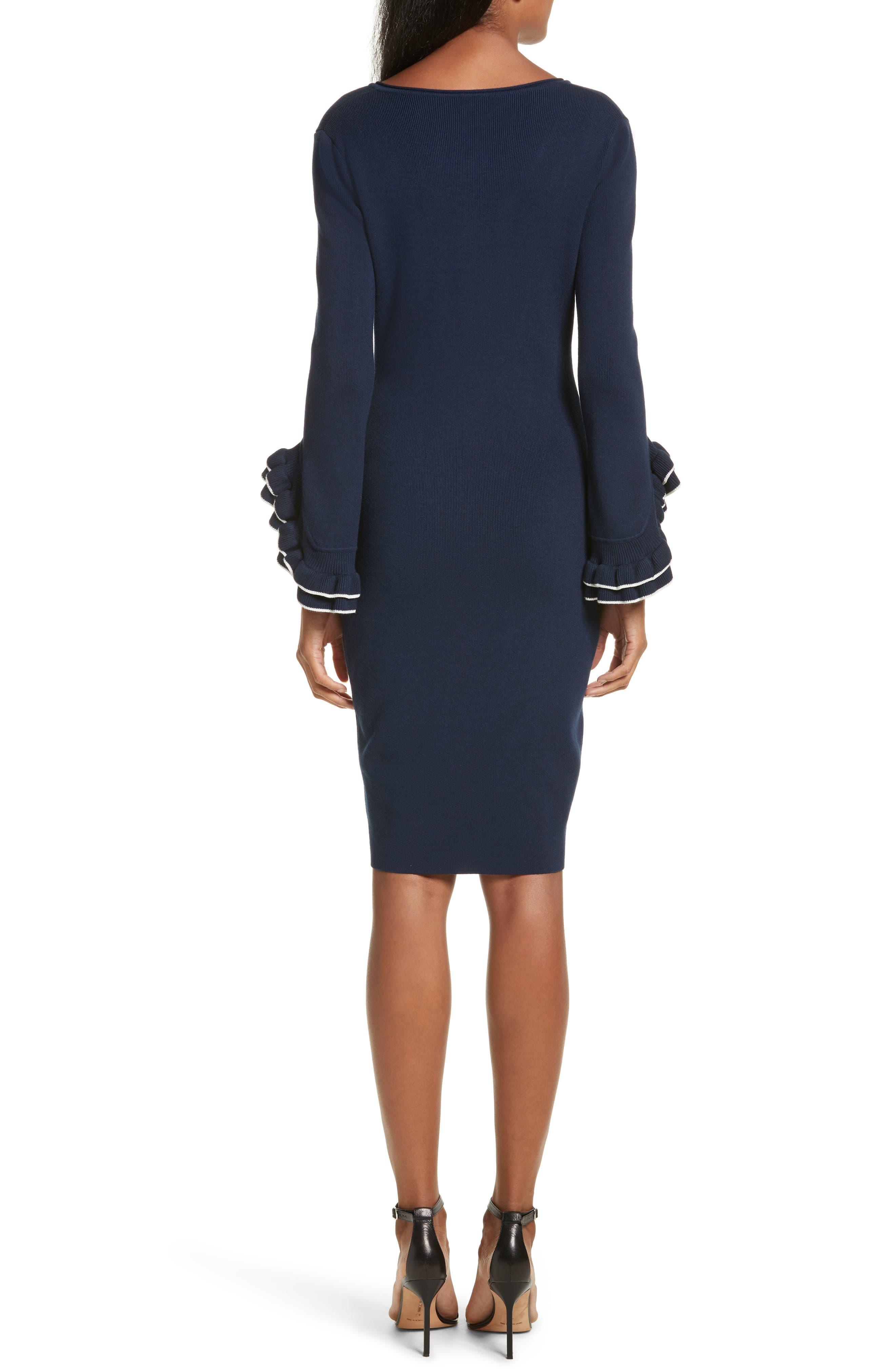 Alternate Image 2  - Milly Ruffle Sleeve Sheath Dress