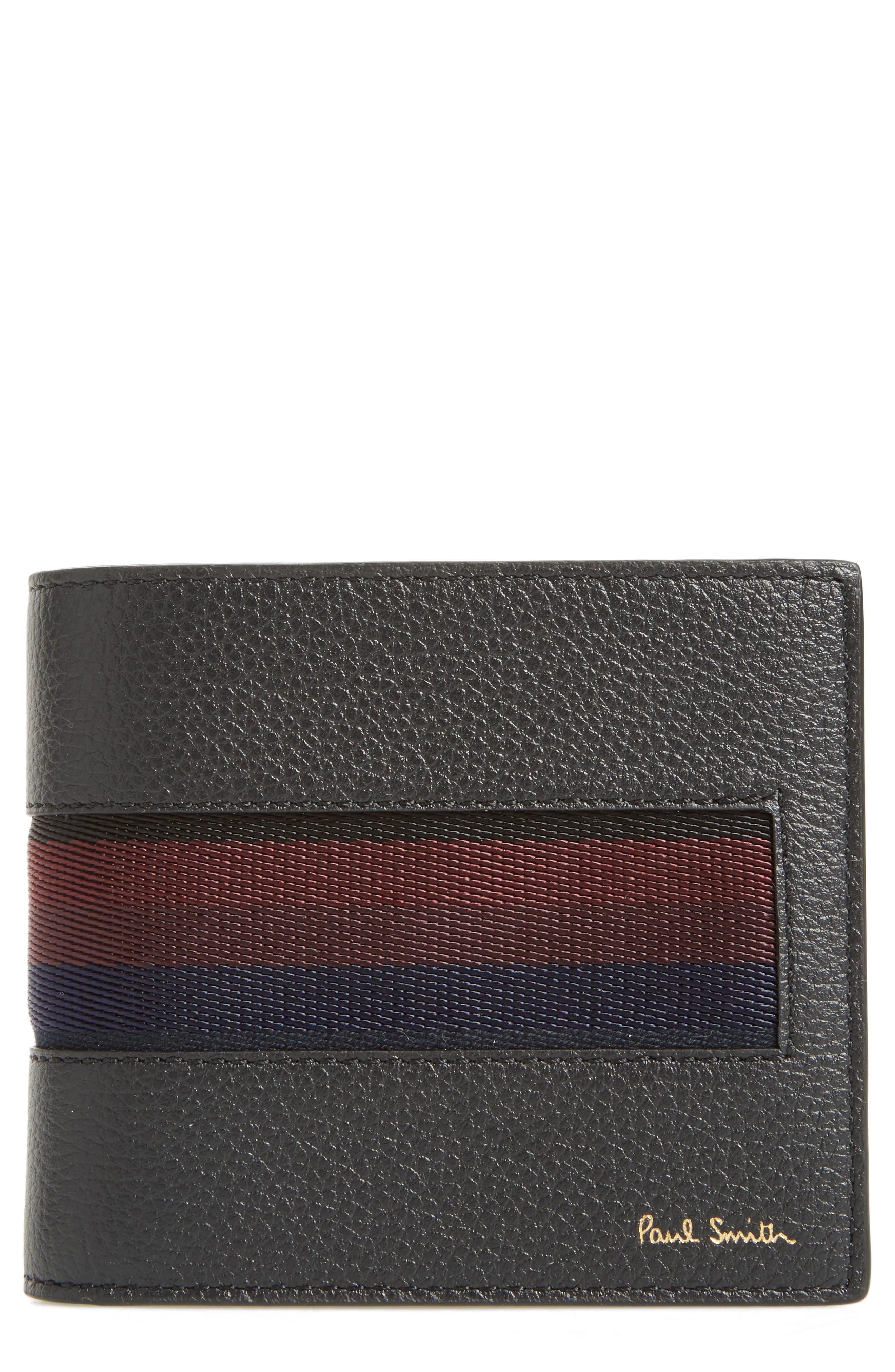 Paul Smith Stripe Webbing Leather Wallet