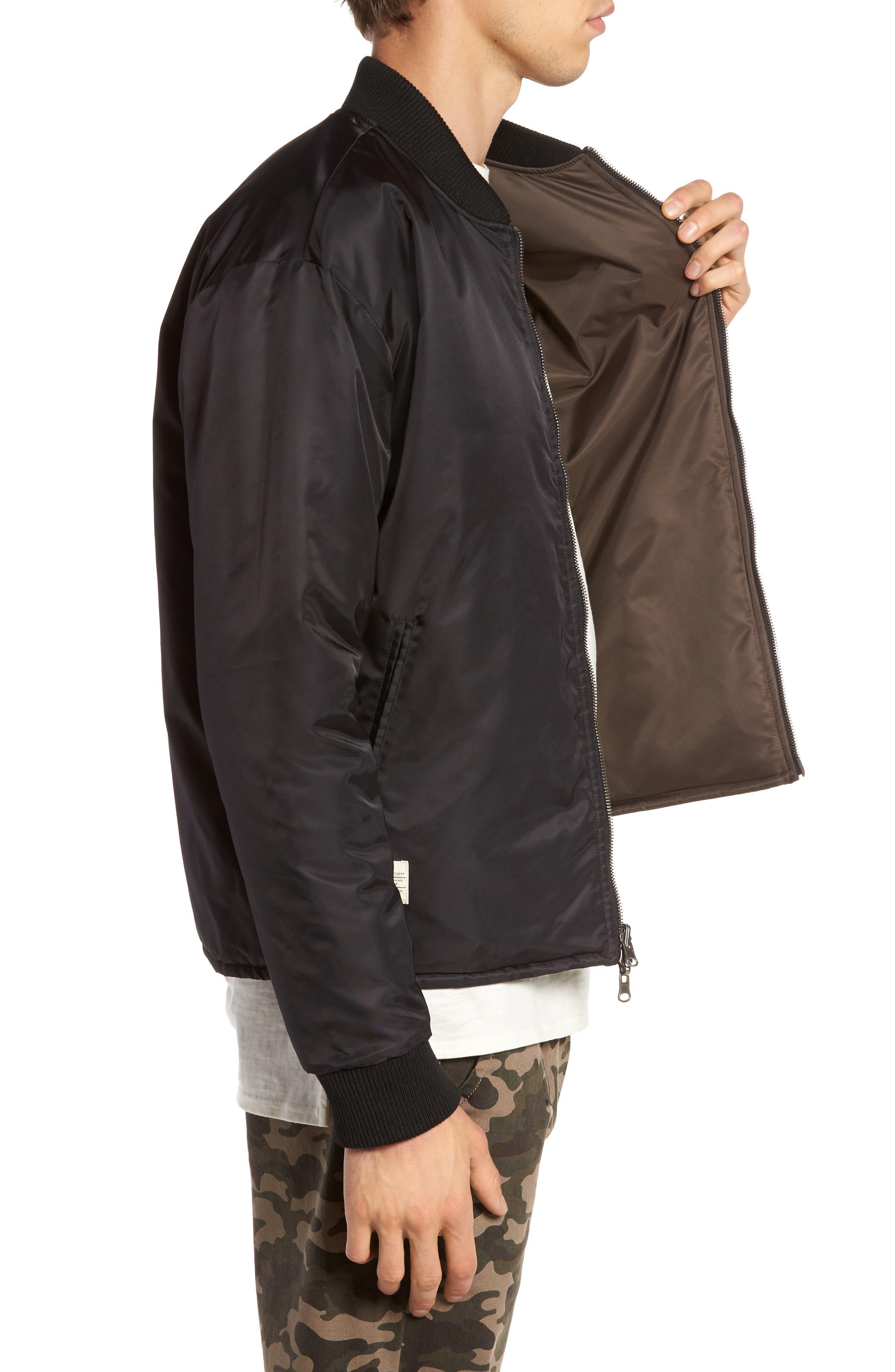 Alternate Image 3  - Lira Clothing Kevion Reversible Bomber Jacket