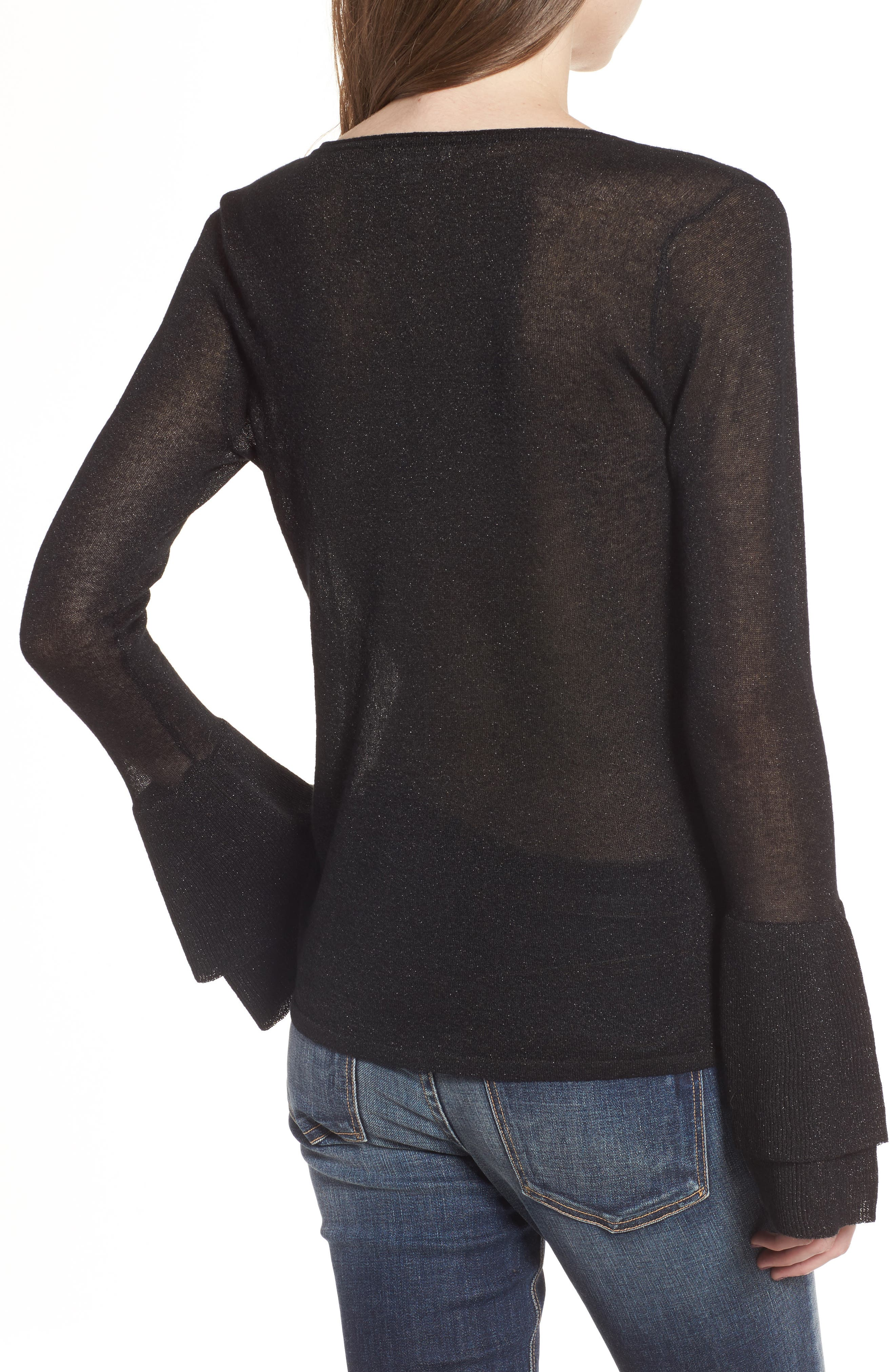 Alternate Image 2  - Ella Moss Ruffle Bell Sleeve Sweater