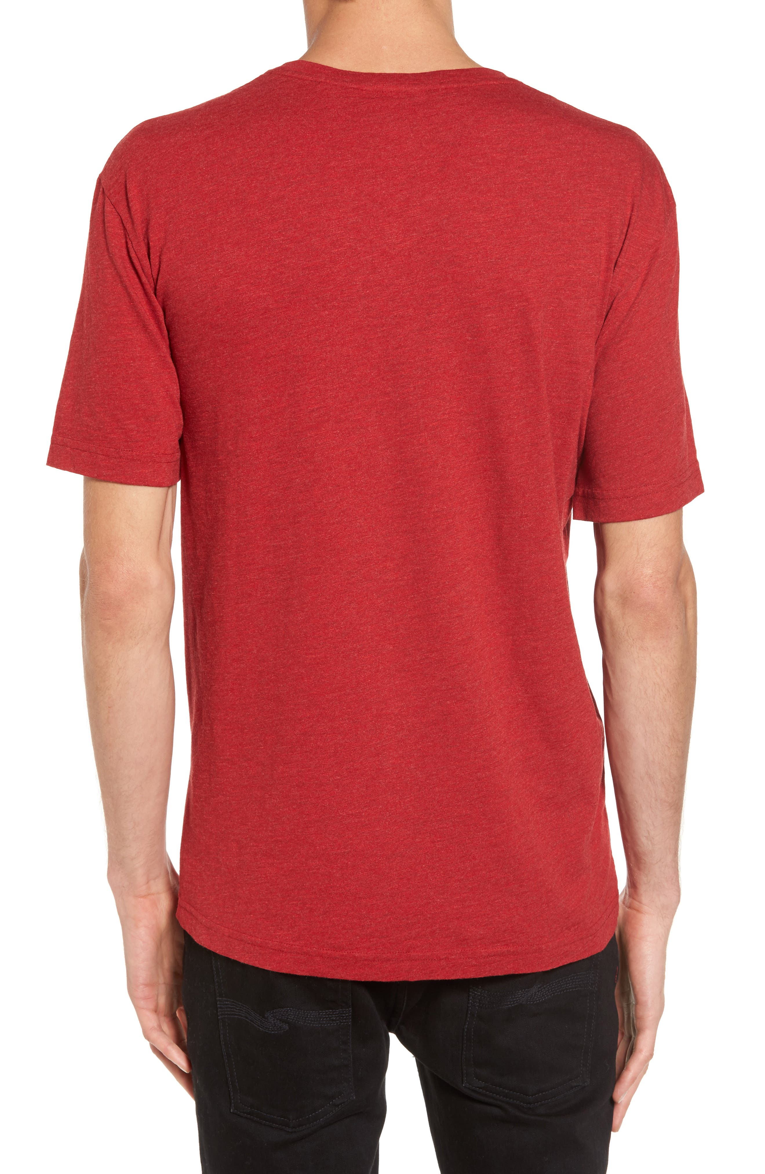 V-Neck T-Shirt,                             Alternate thumbnail 2, color,                             Coccinelle Dyed