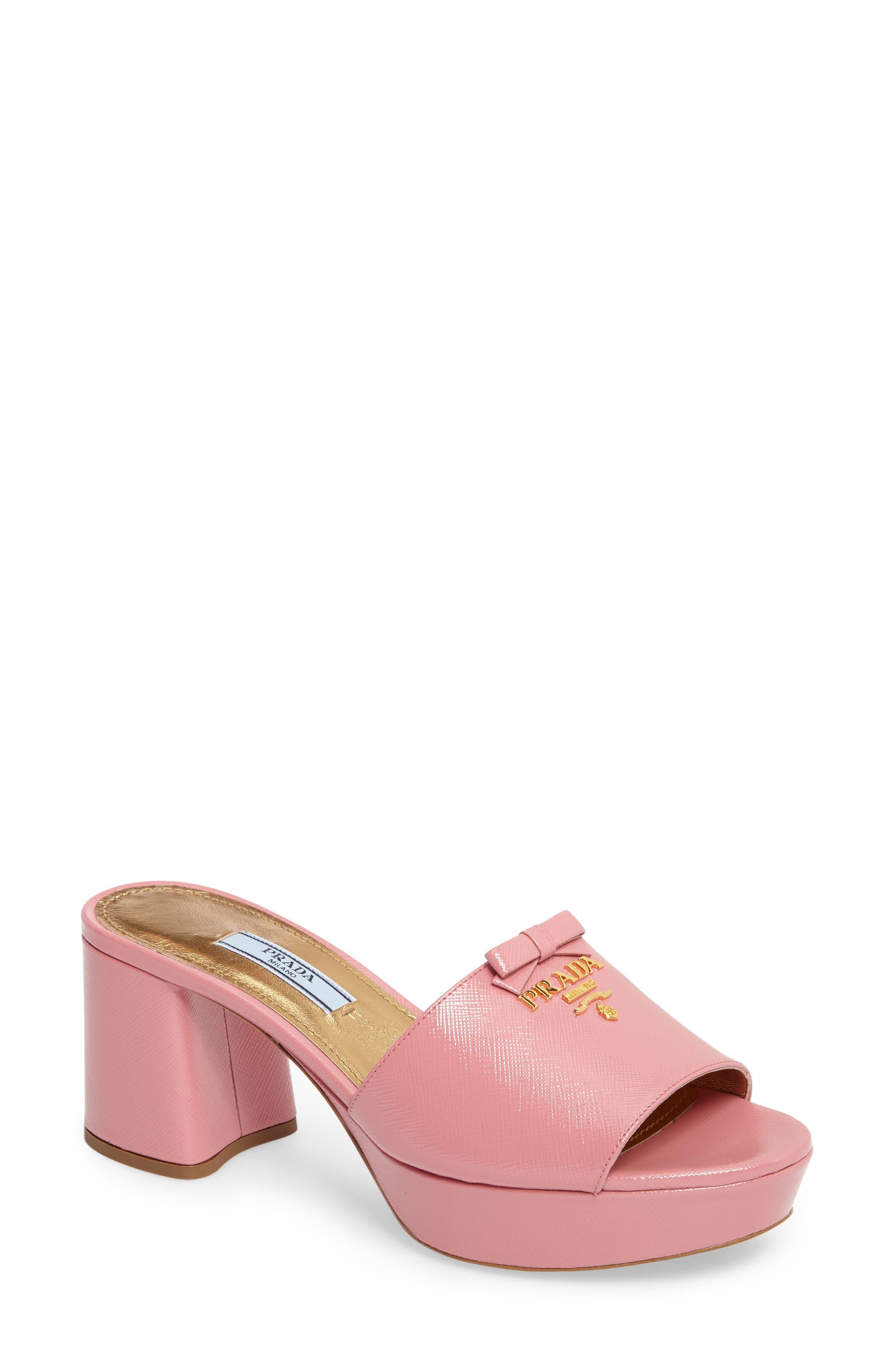 Alternate Image 1 Selected - Prada Logo Block Heel Mule (Women)