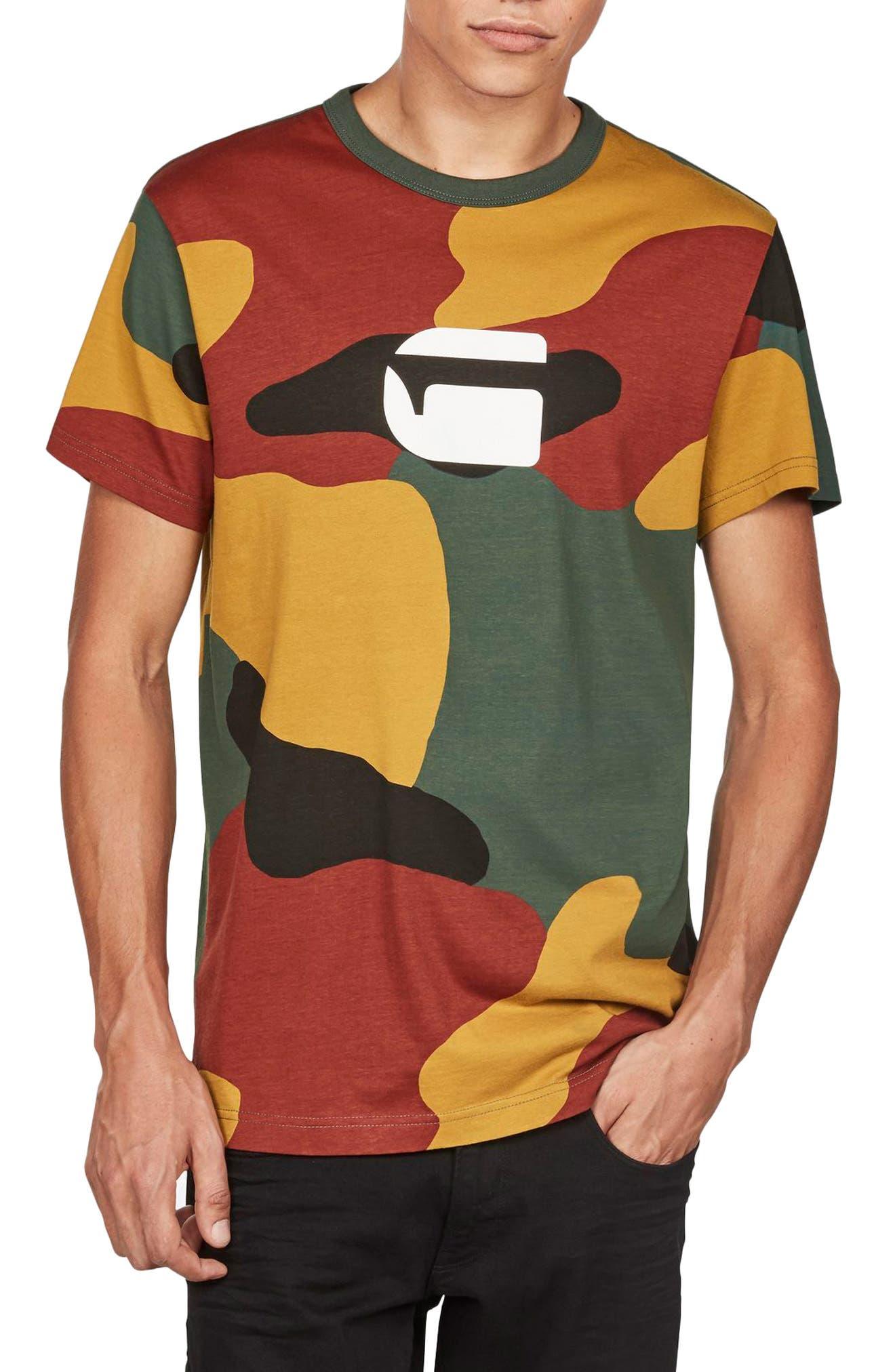 Jigsaw Camo T-Shirt,                             Main thumbnail 1, color,                             White