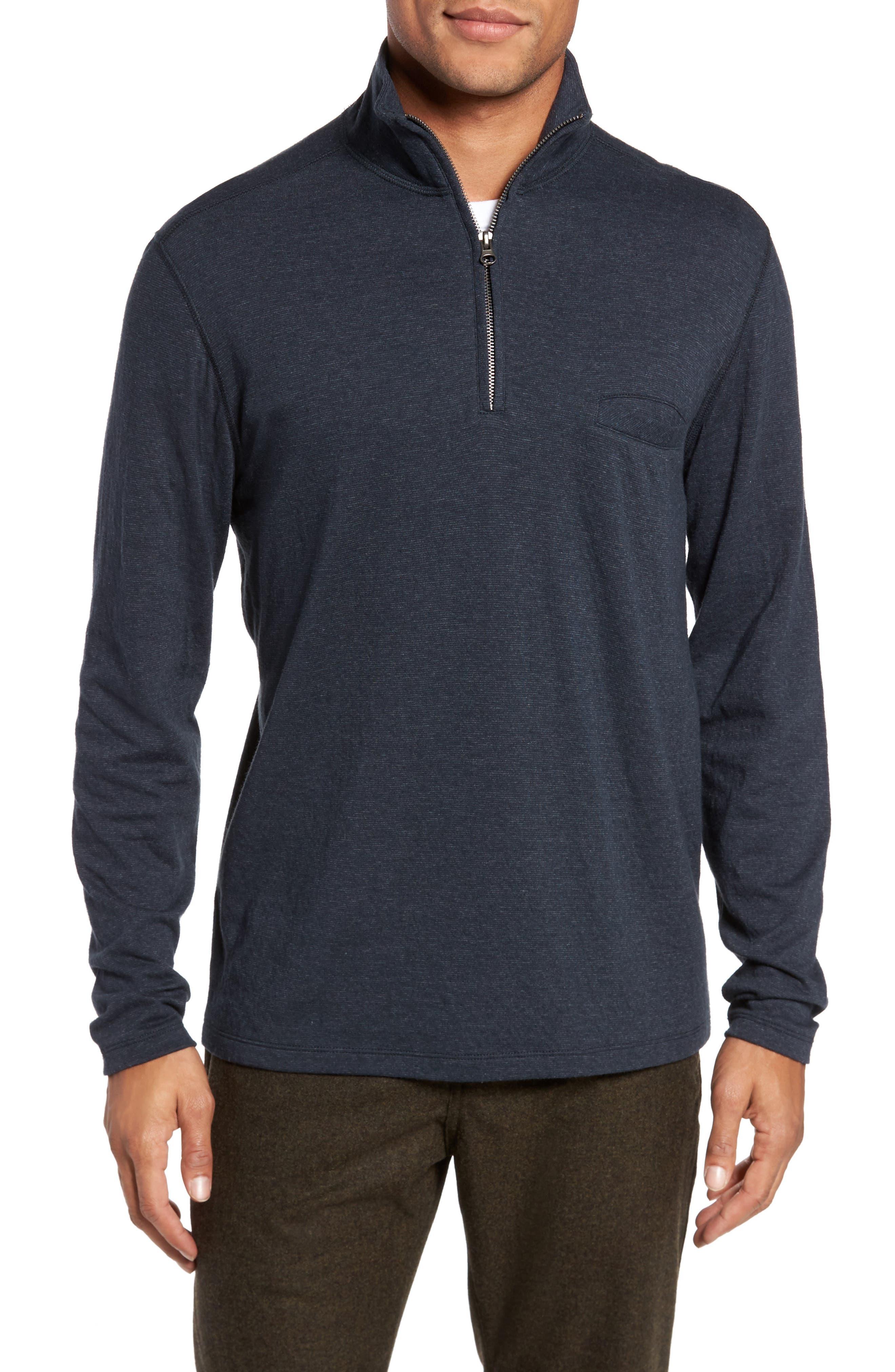 Jordan Quarter Zip Pullover,                             Main thumbnail 1, color,                             Carbon Blue
