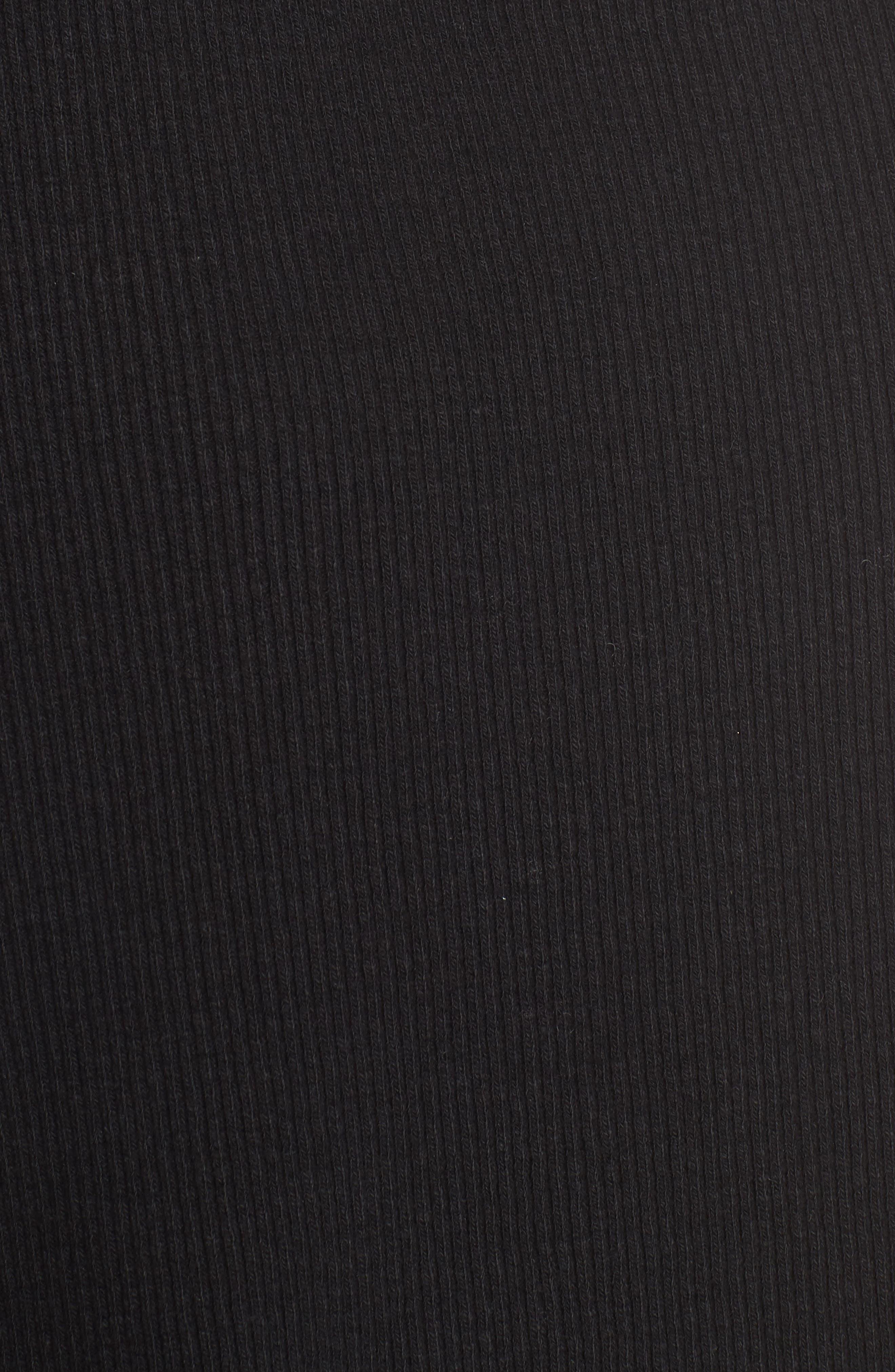 Mixed Media Turtleneck Shift Dress,                             Alternate thumbnail 5, color,                             Black