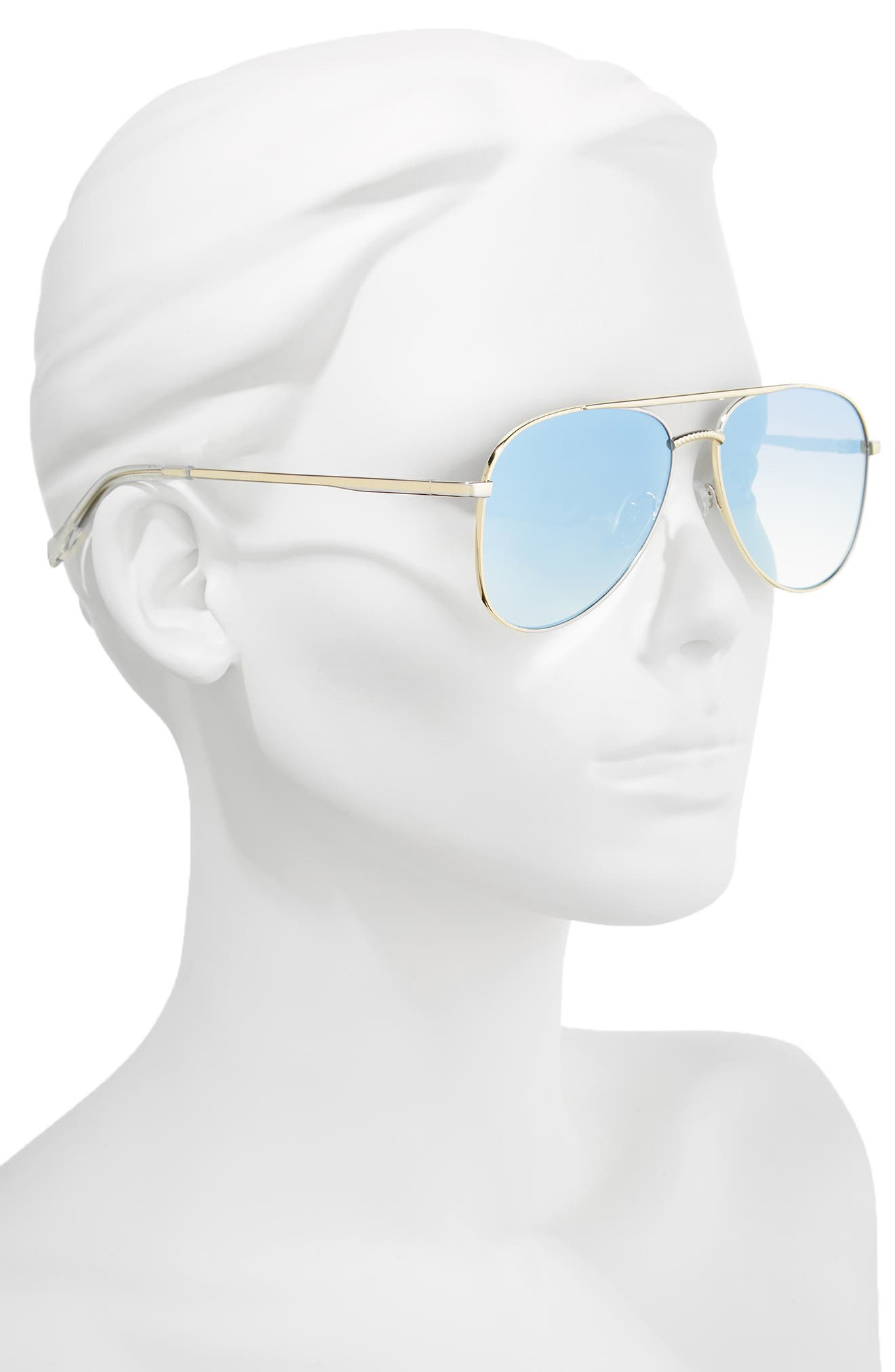 Kingdom 57mm Polarized Aviator Sunglasses,                             Alternate thumbnail 2, color,                             Bright Gold