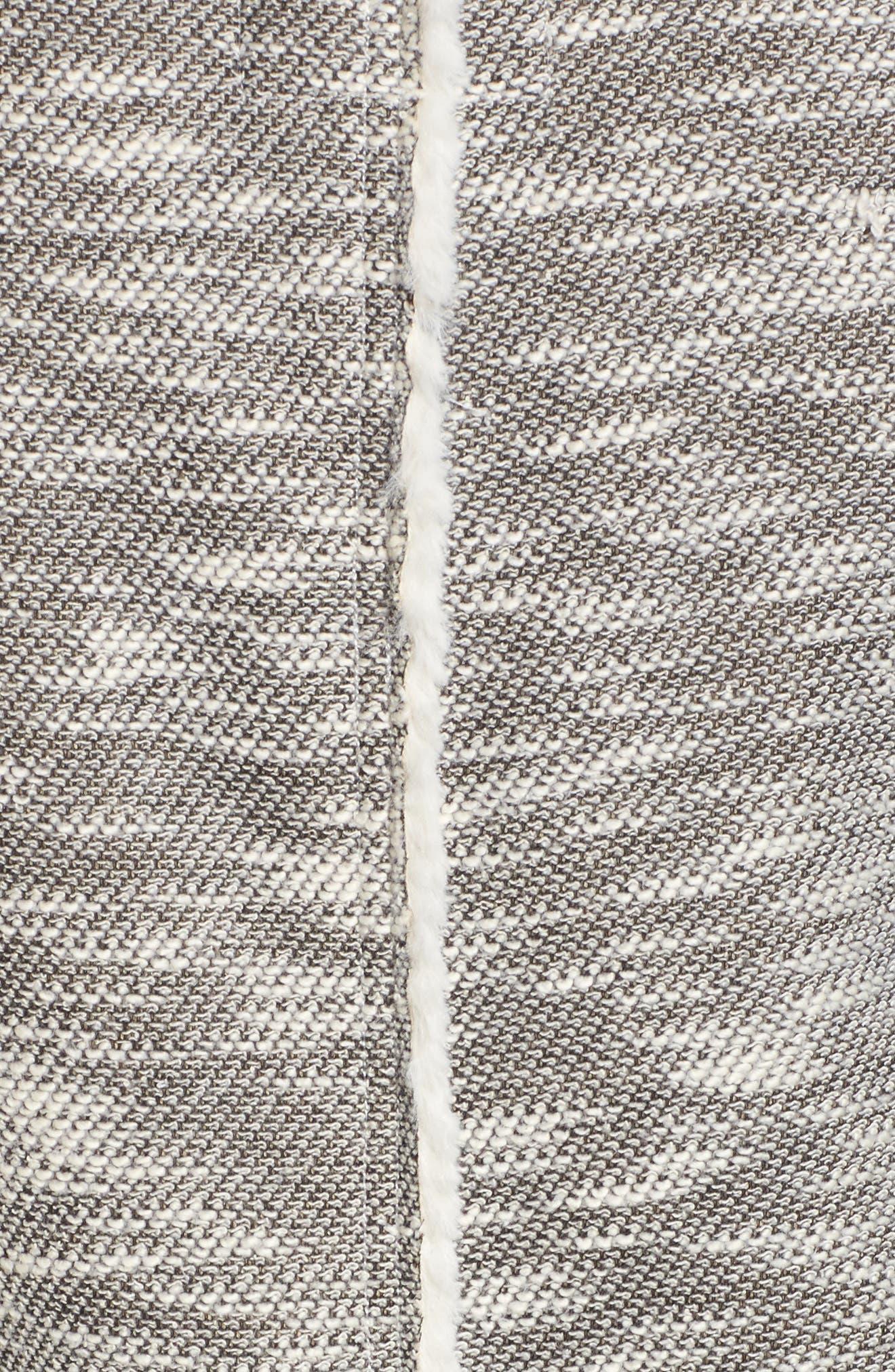 Faux Shearling Vest,                             Alternate thumbnail 5, color,                             Black/ White