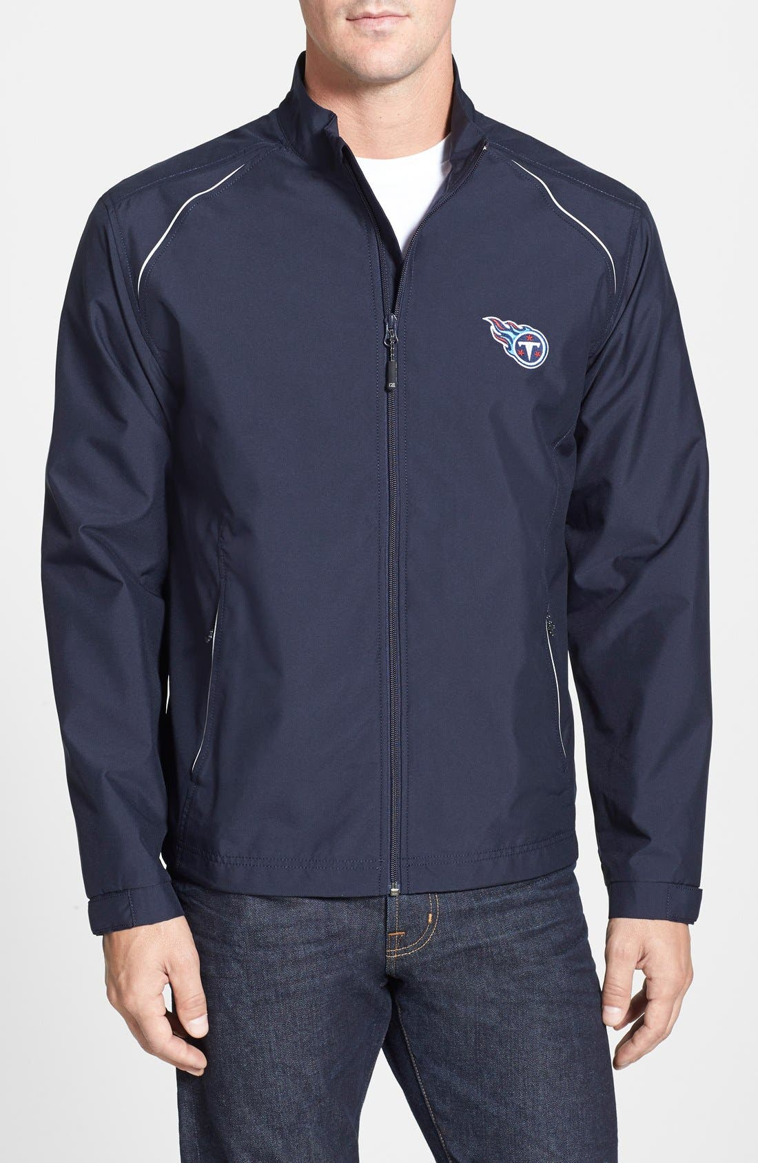 Cutter & Buck 'Tennessee Titans - Beacon' WeatherTec Wind & Water Resistant Jacket (Big & Tall)