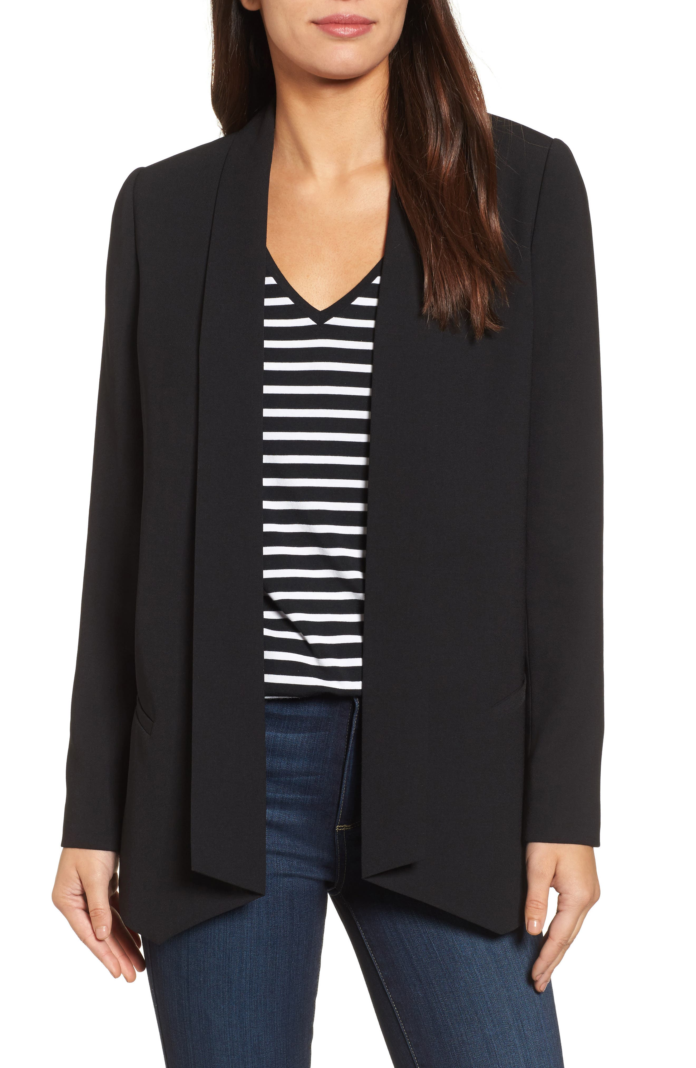 Shawl Collar Blazer,                         Main,                         color, Black