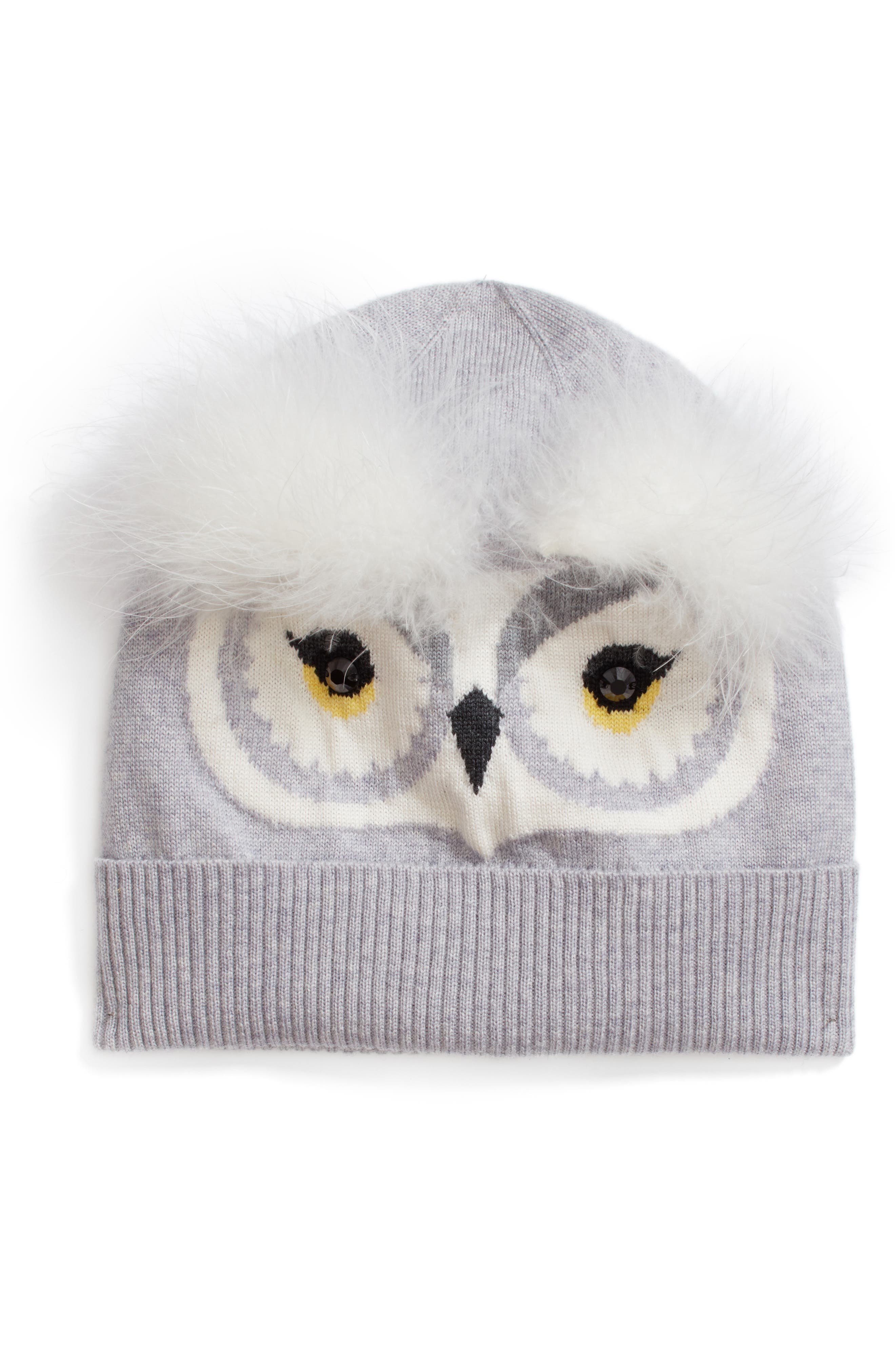 Main Image - kate spade new york who me wool beanie