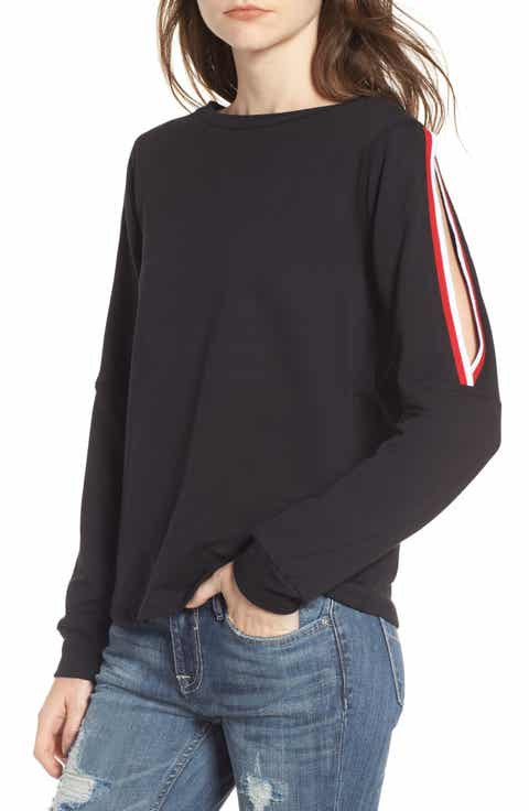 PST by Project Social T Sporty Cold Shoulder Sweatshirt
