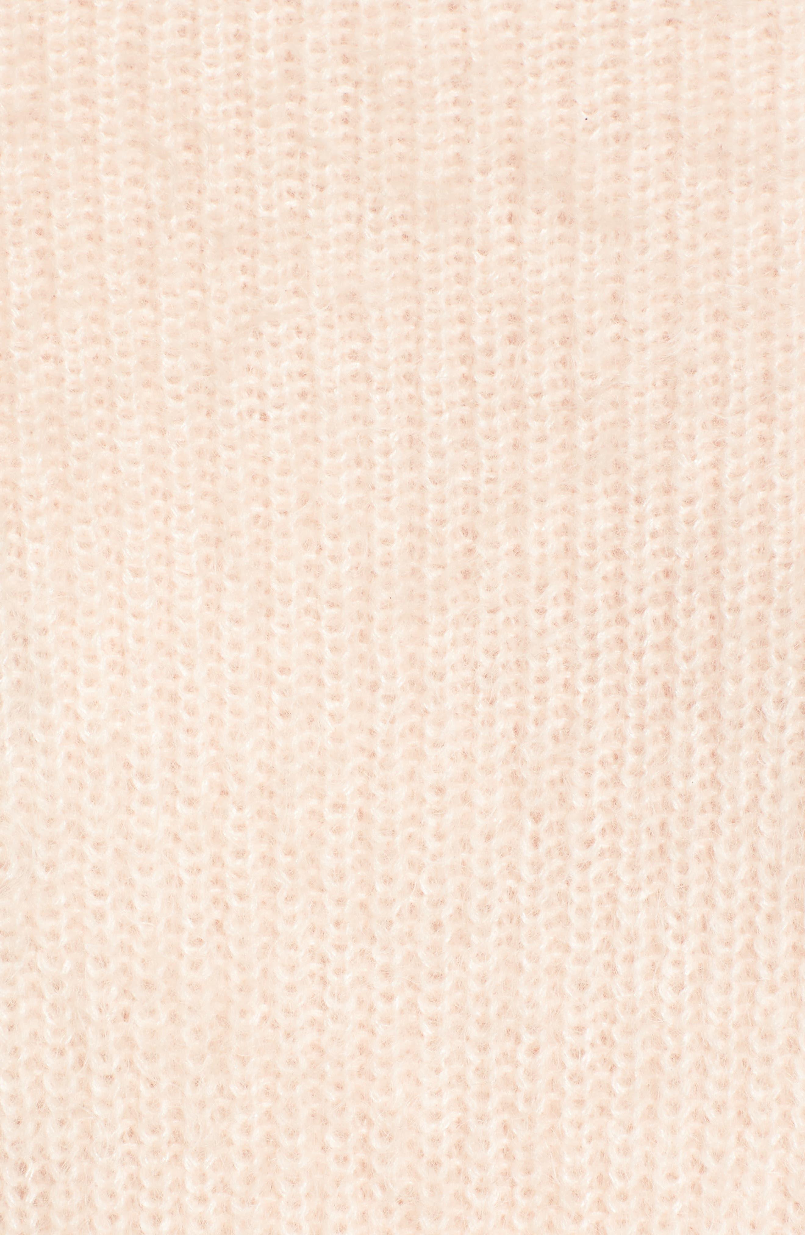 Poet Sleeve Sweater,                             Alternate thumbnail 5, color,                             Pink Peony Bud