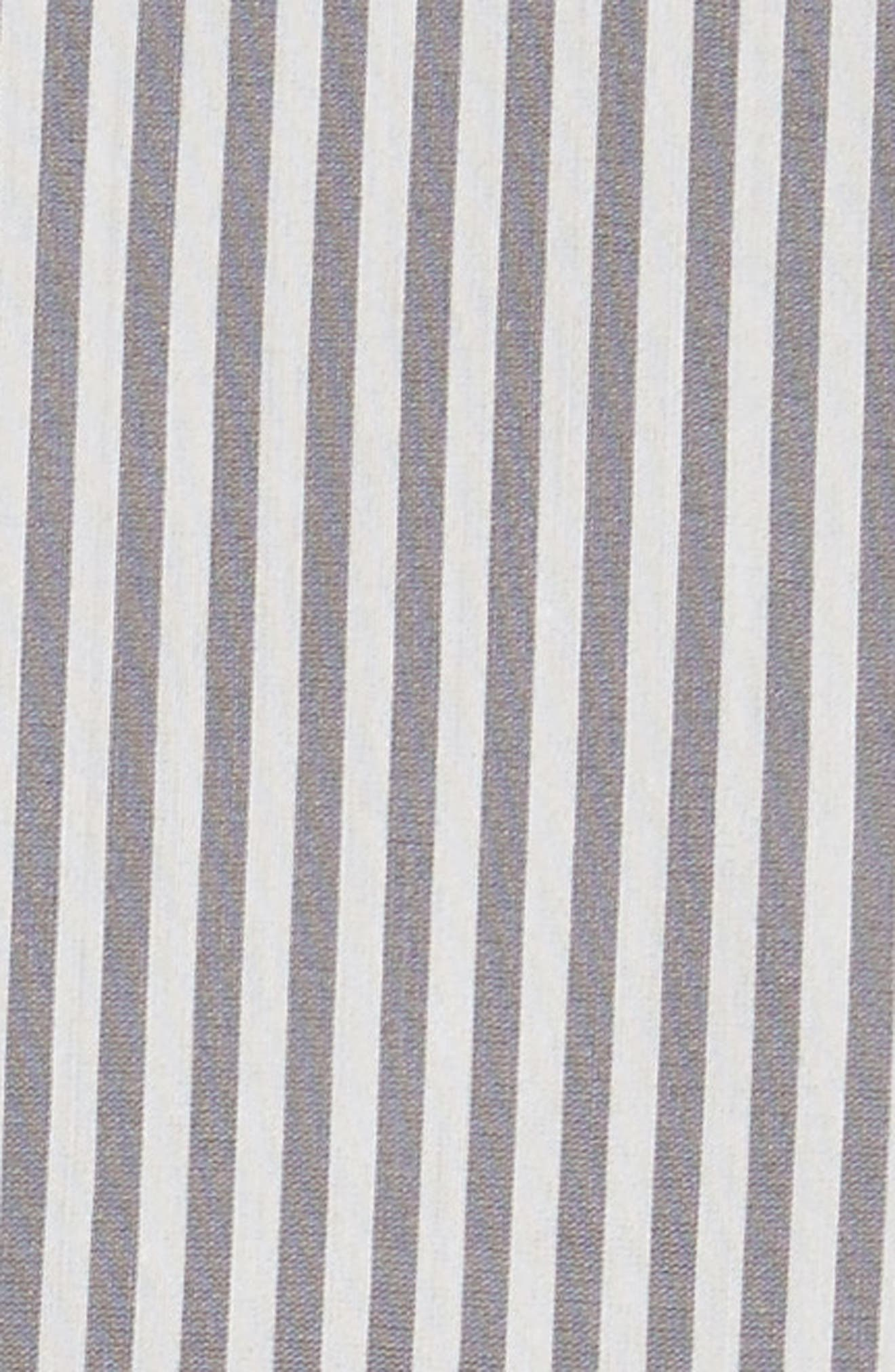 Filato Stripe Cotton & Silk Shirt,                             Alternate thumbnail 5, color,                             Medium Grey