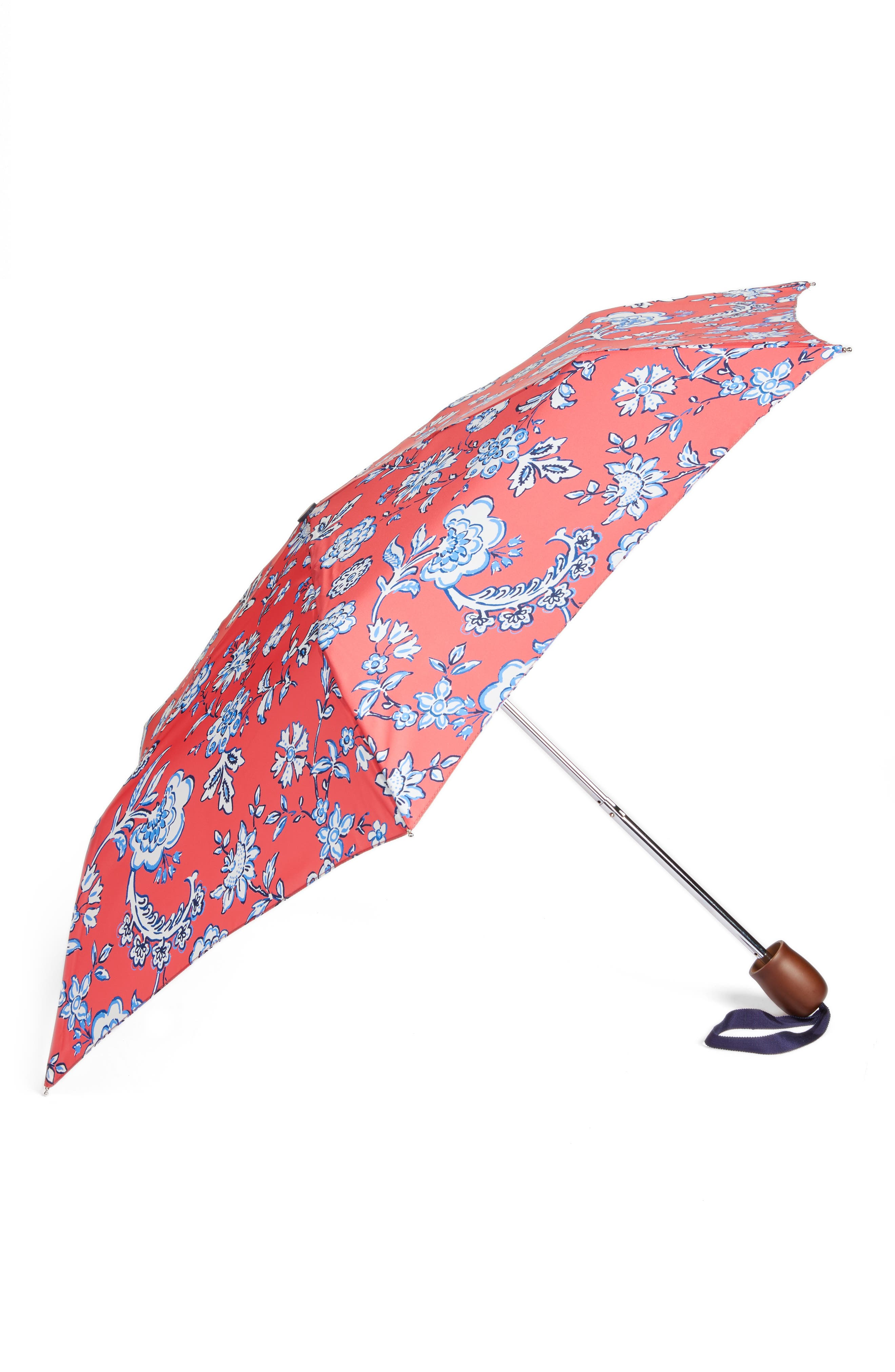 Right as Rain Print Umbrella,                             Main thumbnail 1, color,                             Red Sky Indienne