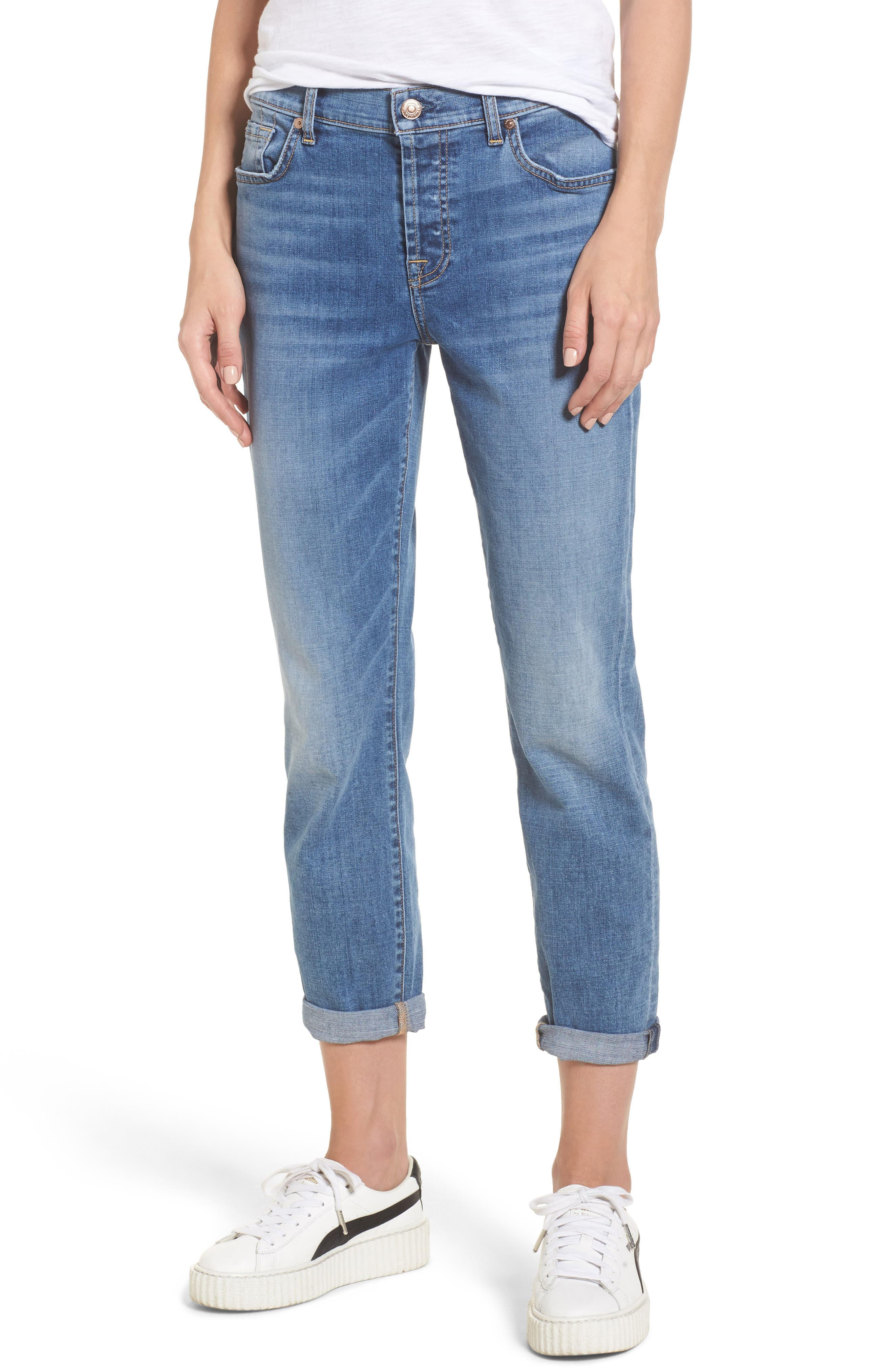 7 For All Mankind® Josefina Crop Boyfriend Jeans (Fillmore)