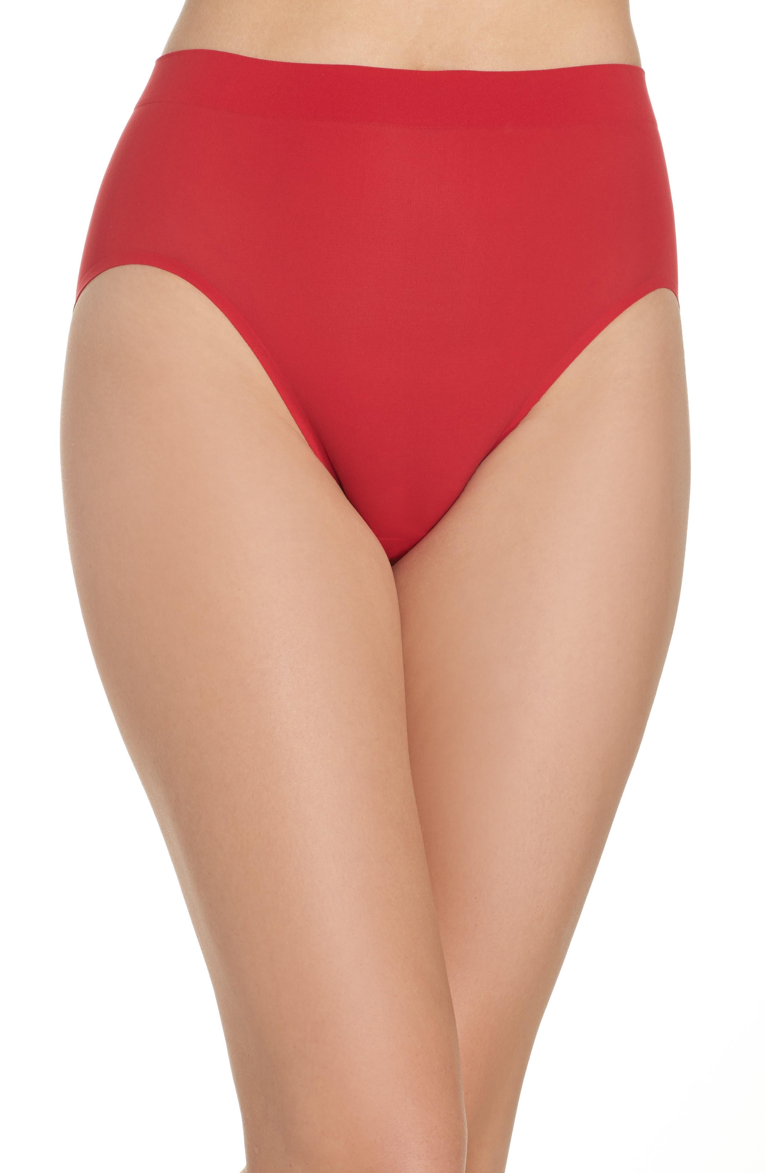 'Skinsense' Seamless High Cut Briefs,                         Main,                         color, Tango Red