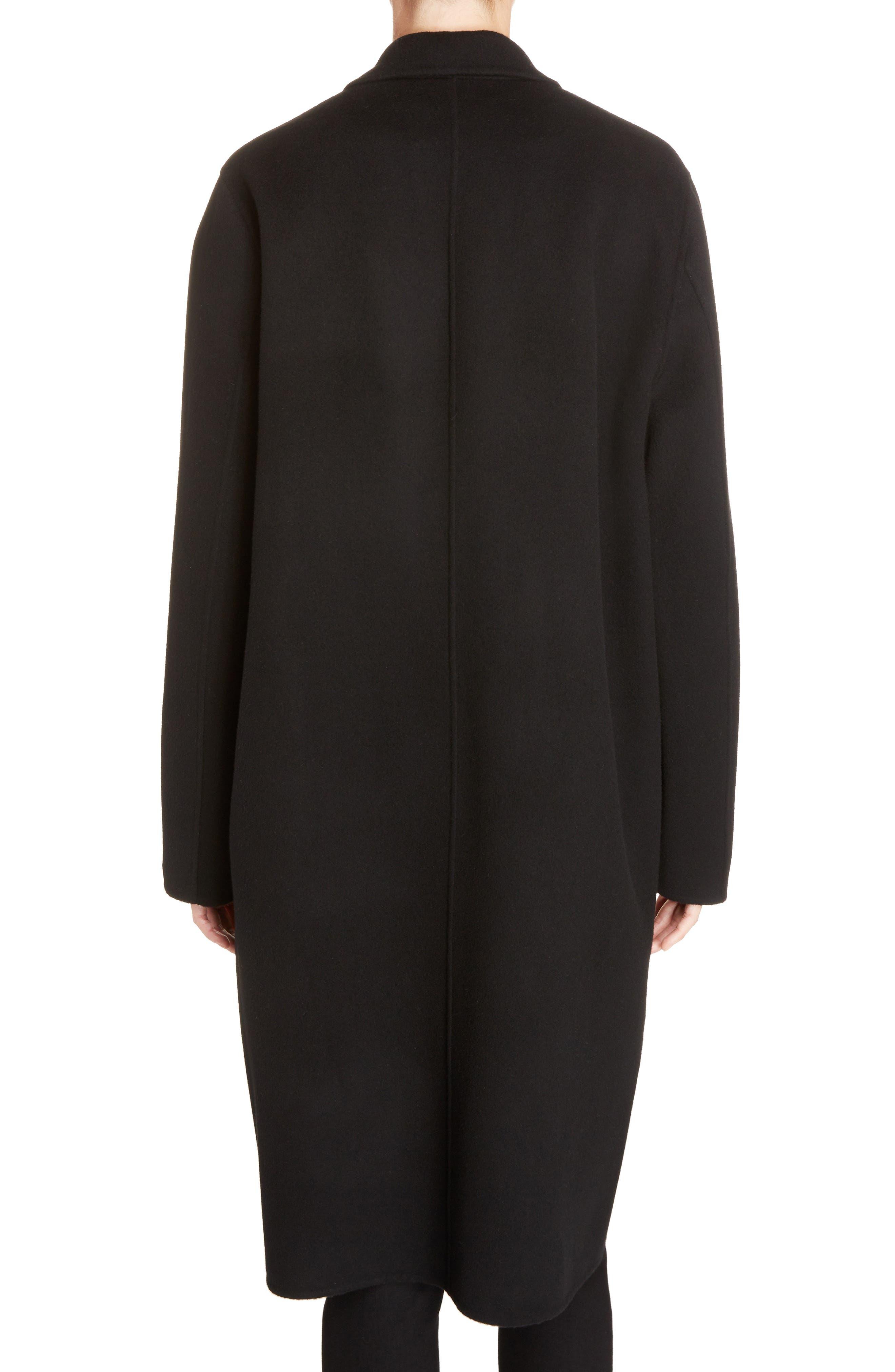 Avalon Wool & Cashmere Coat,                             Alternate thumbnail 2, color,                             Black