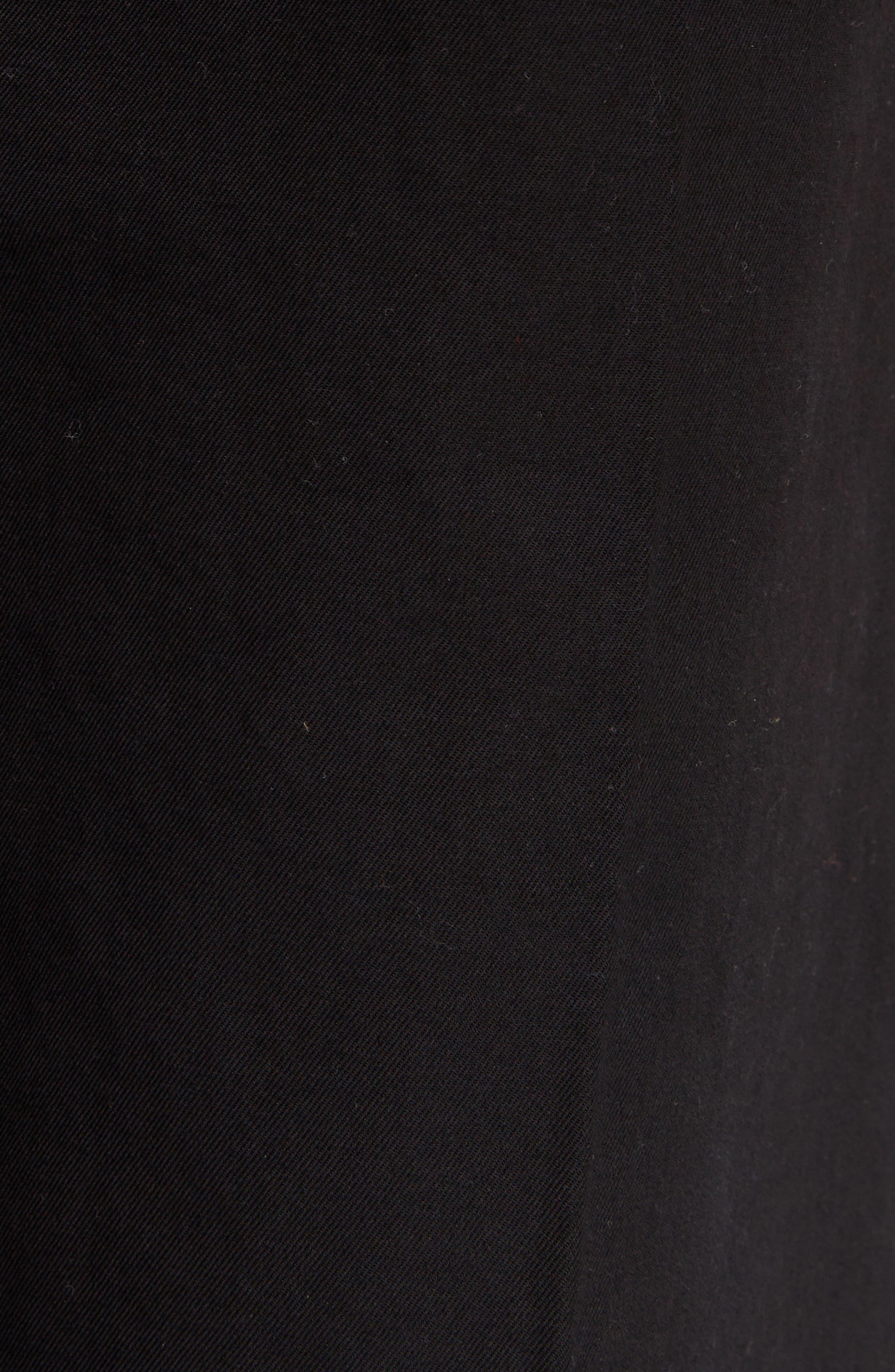 Madya Cuffed Cotton Pants,                             Alternate thumbnail 9, color,                             Black
