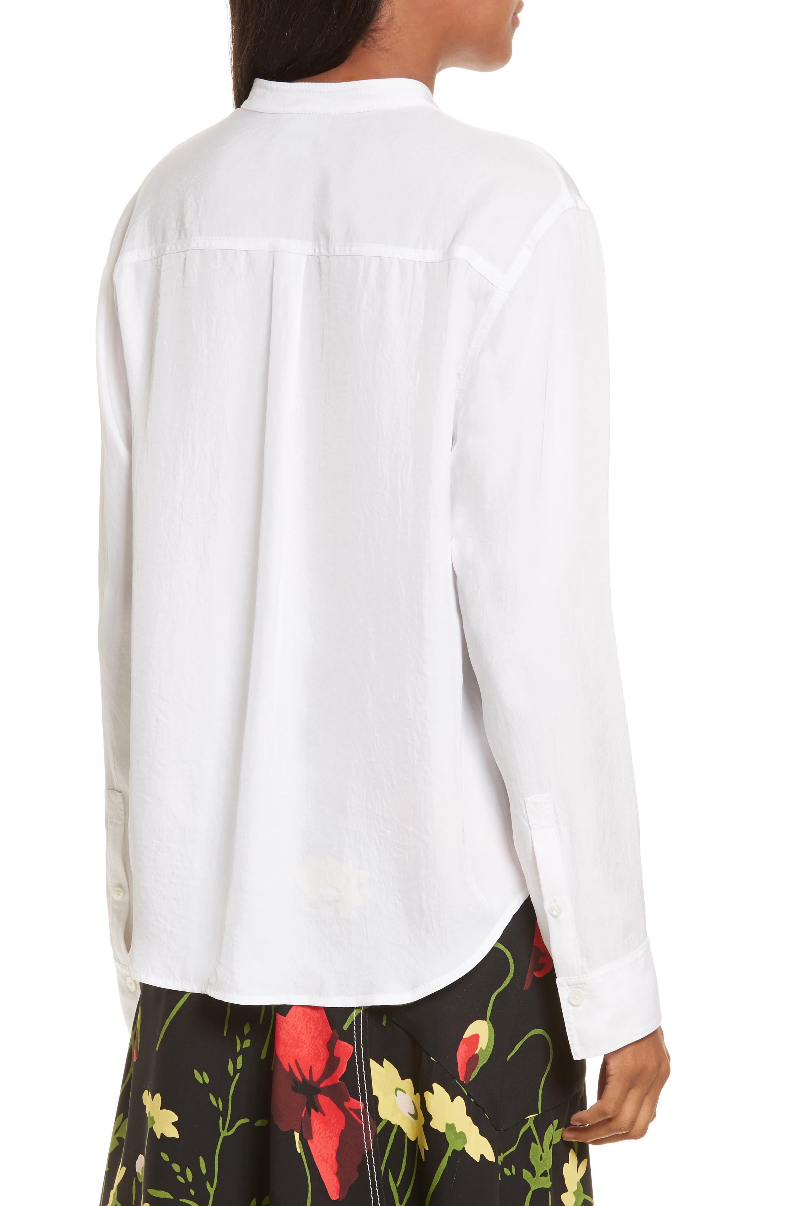 Twill Shirt,                             Alternate thumbnail 2, color,                             Star White