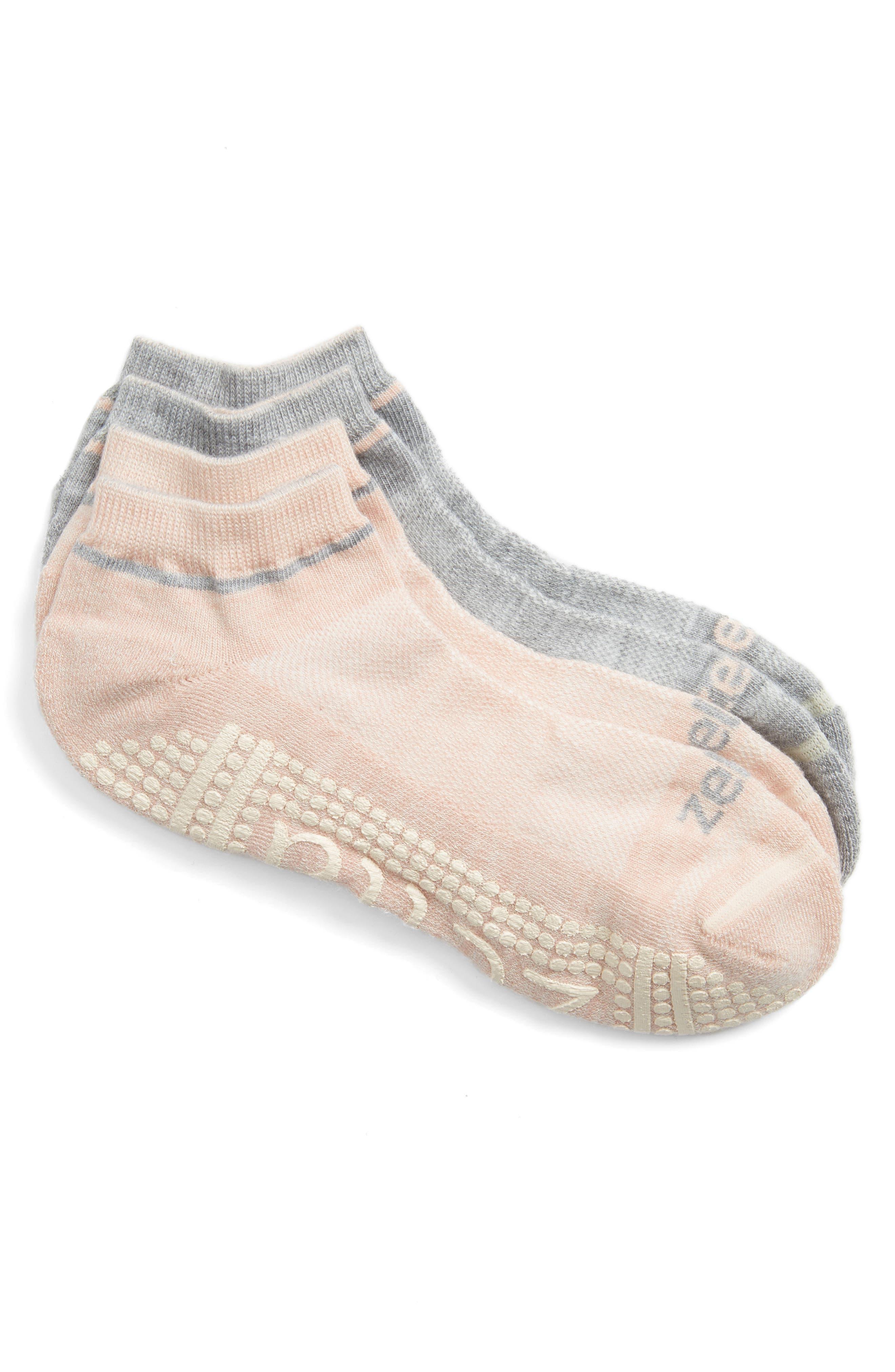 Alternate Image 1 Selected - Zella 2-Pack Barre Socks