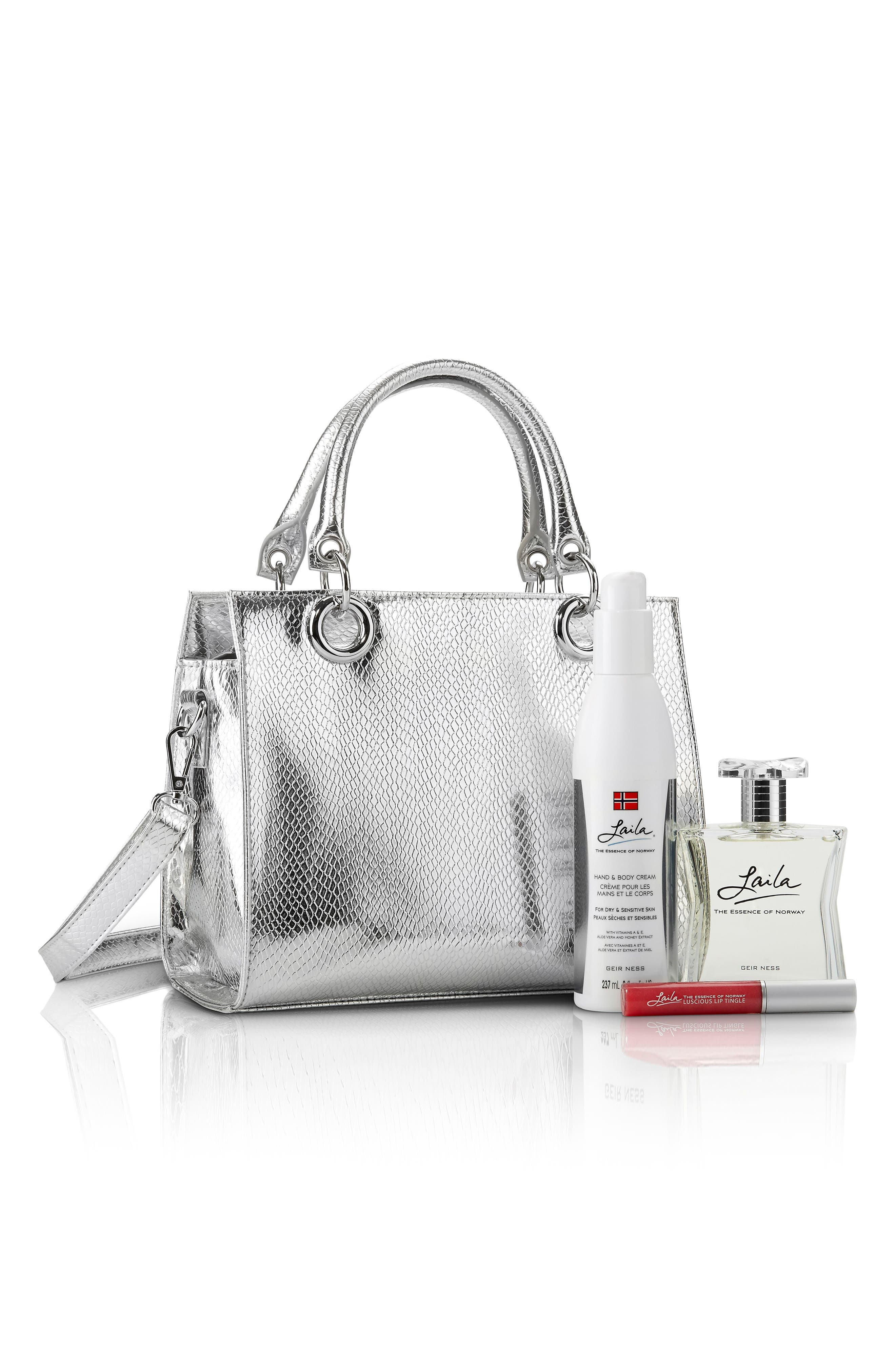 Alternate Image 1 Selected - Laila Eau de Parfum & Embossed Purse Set