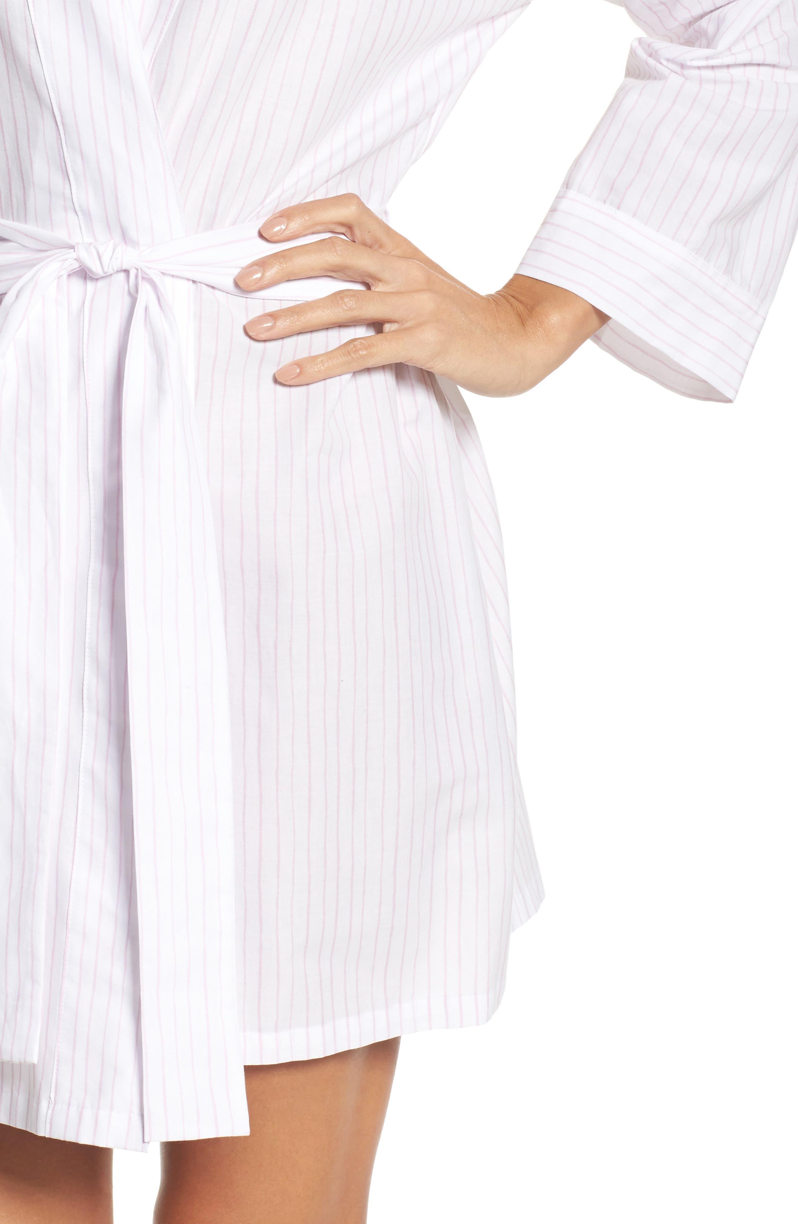 Stripe Robe,                             Alternate thumbnail 5, color,                             Pink Stripe