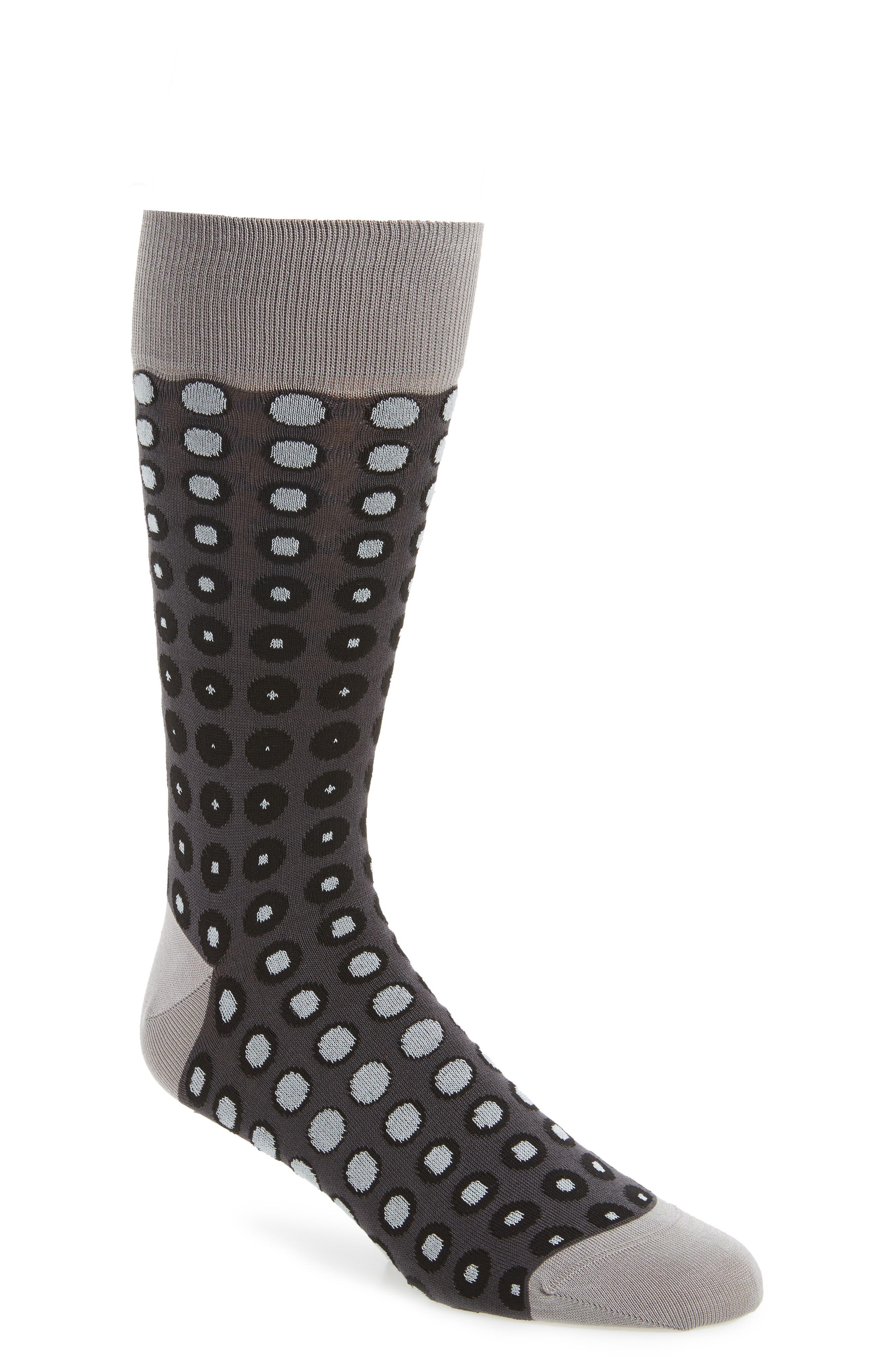 Main Image - Bugatchi Dot Socks