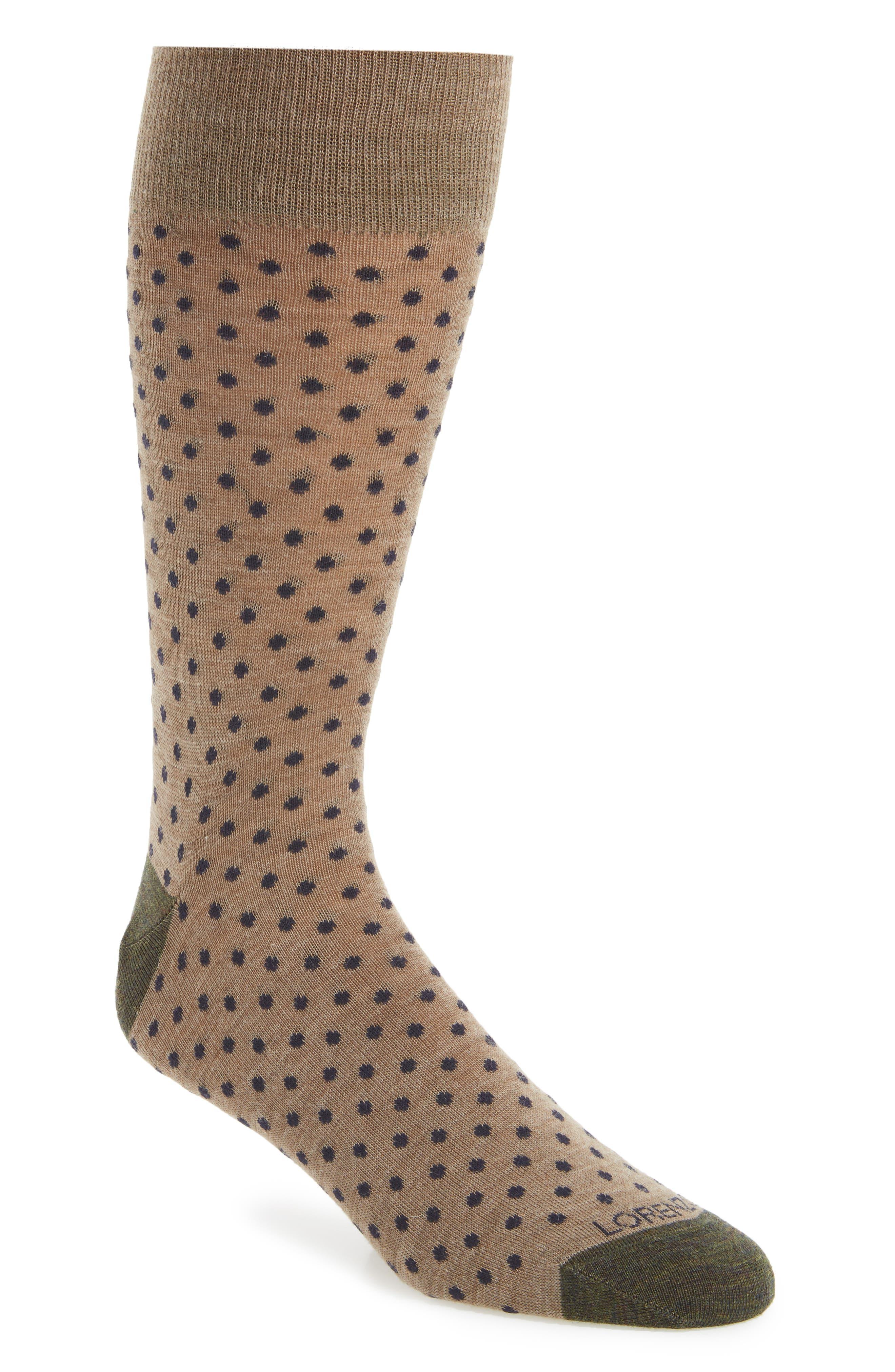 Main Image - Lorenzo Uomo Dot Socks (3 for $30)