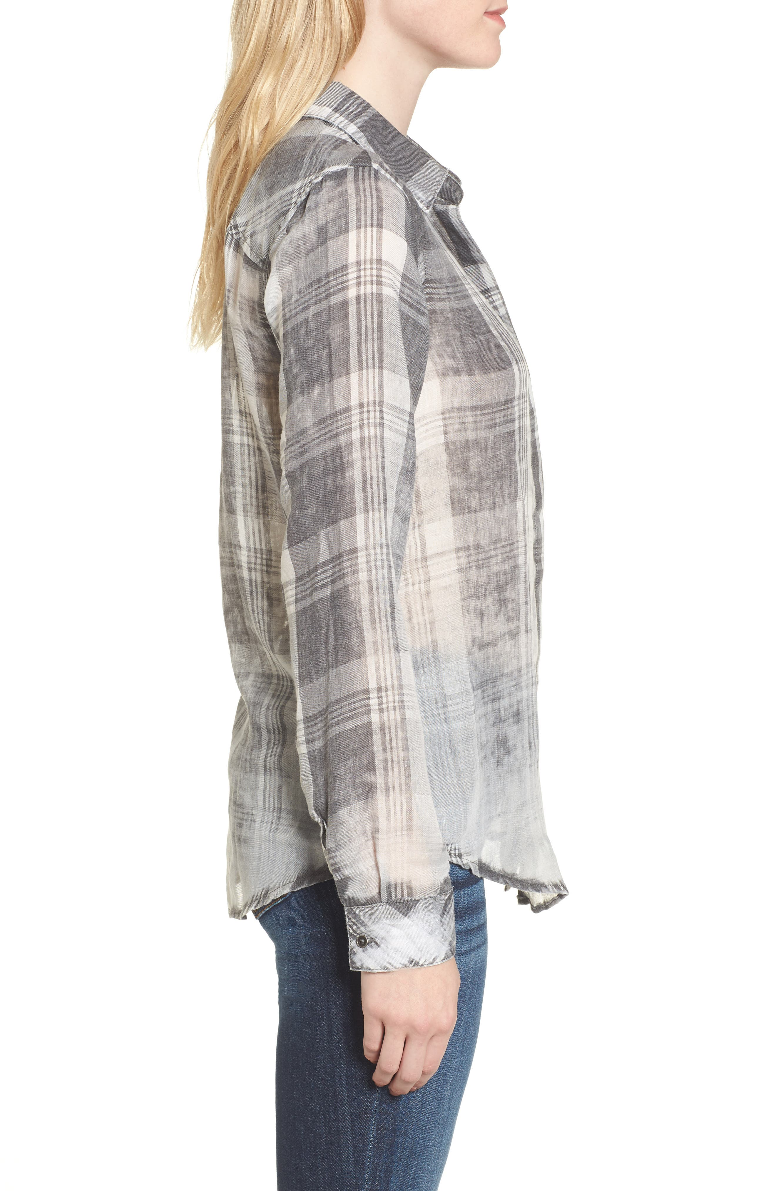 Alternate Image 3  - Thread & Supply Conor Burnout Plaid Shirt