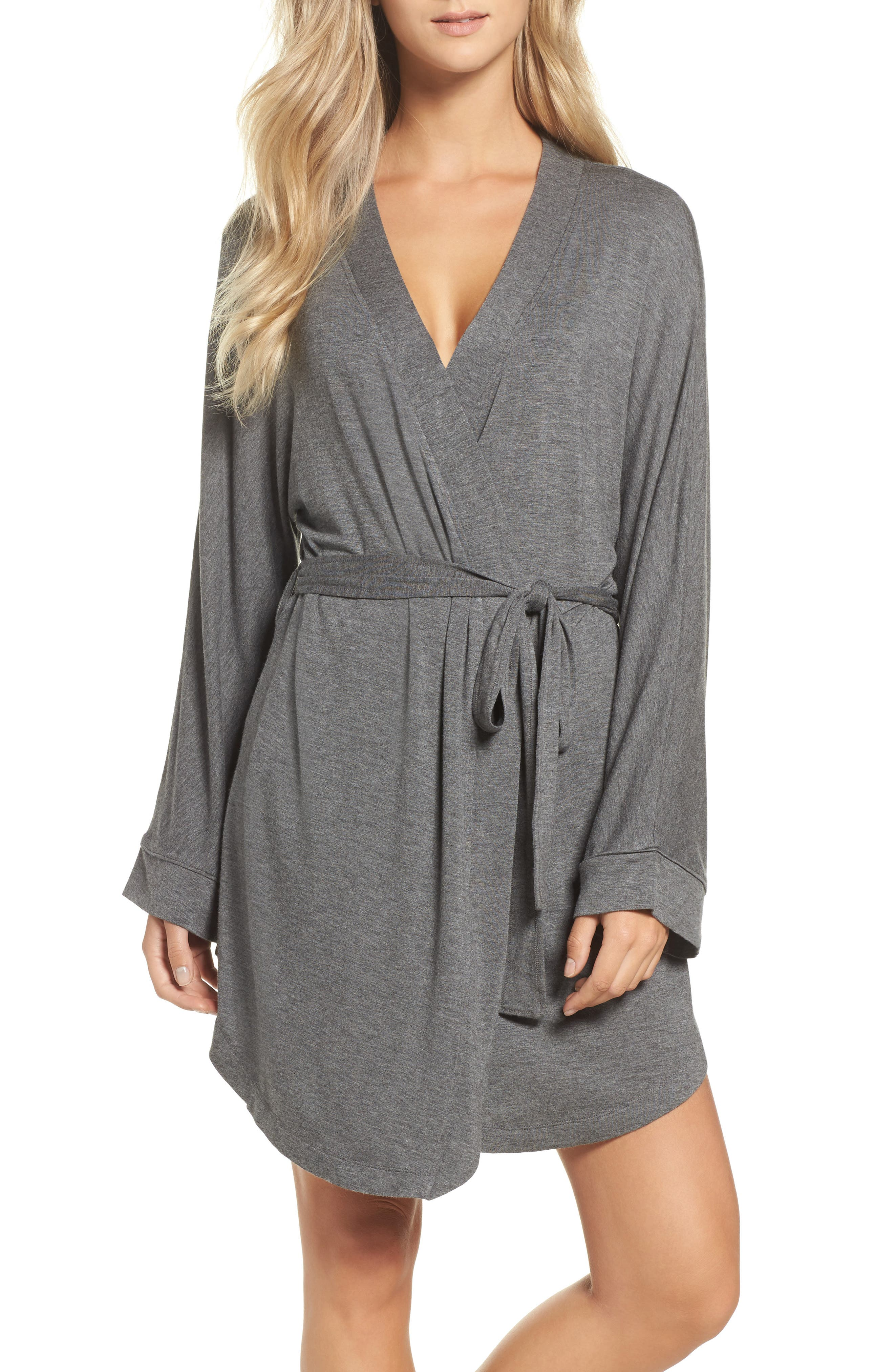 Alternate Image 1 Selected - Honeydew Intimates Jersey Robe (2 for $60)