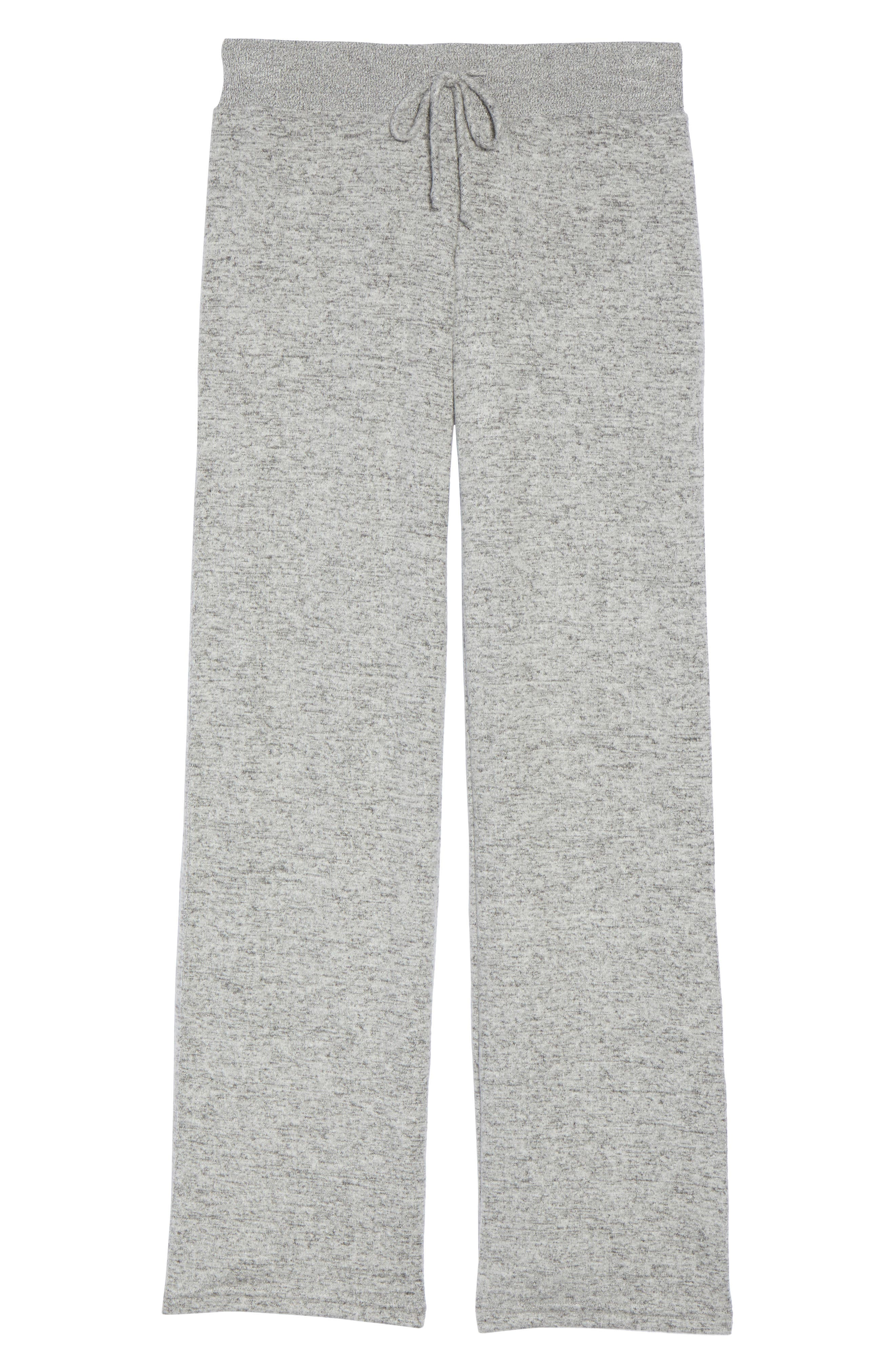 Best Boyfriend Brushed Hacci Lounge Pants,                             Alternate thumbnail 7, color,                             Grey Flannel Marl