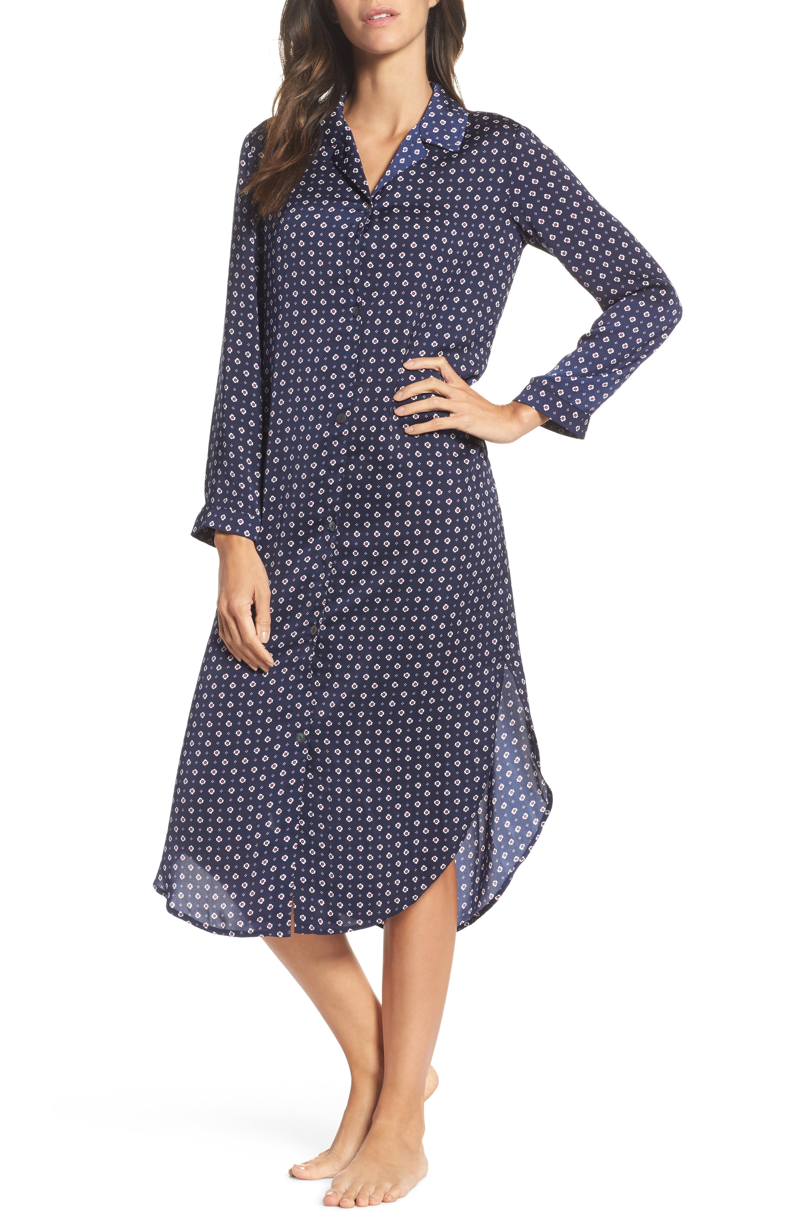 Nightgown,                         Main,                         color, Blue