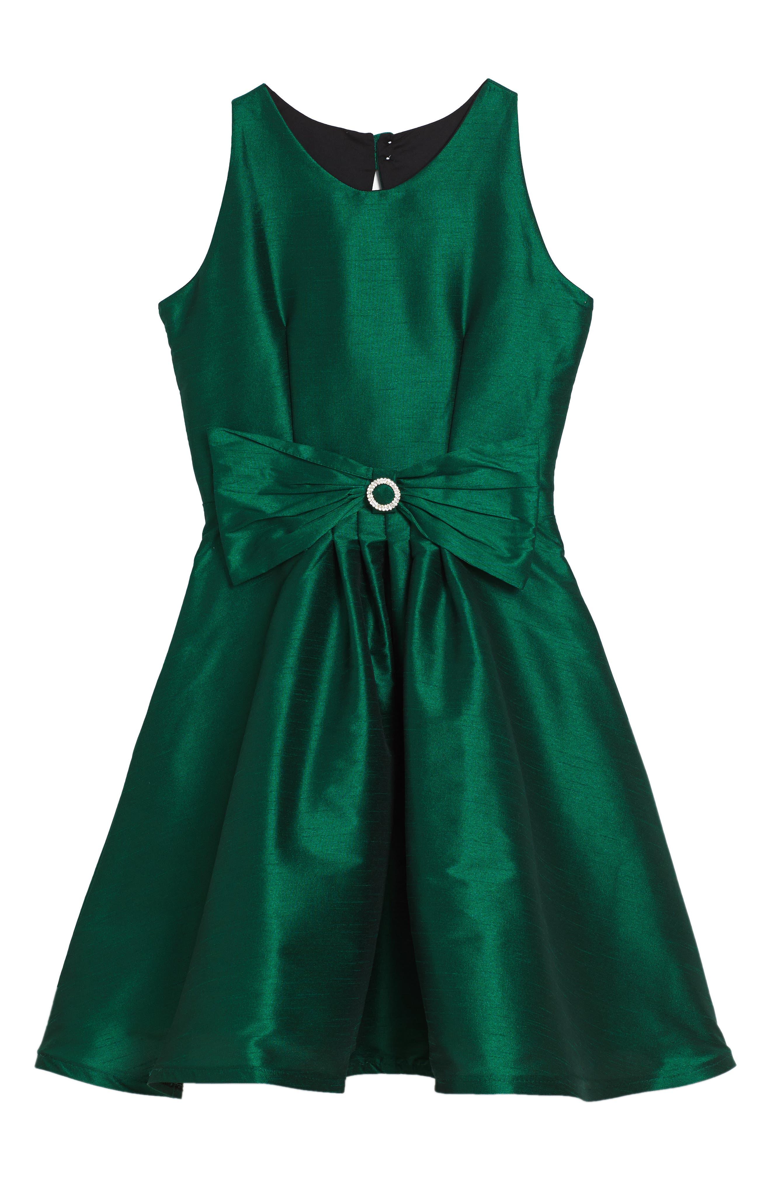 Alternate Image 1 Selected - Fiveloaves Twofish Holiday Beauty Sleeveless Dress (Big Girls)
