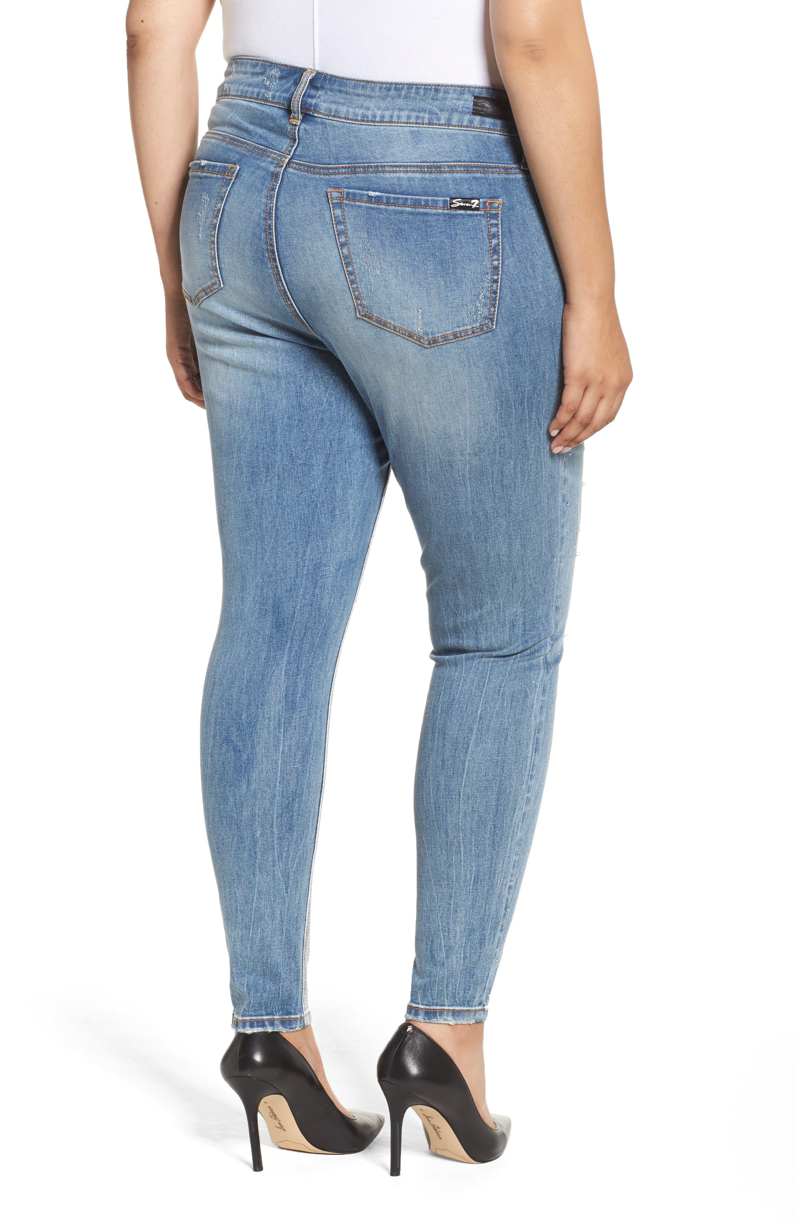 Embellished Skinny Jeans,                             Alternate thumbnail 2, color,                             Starlet