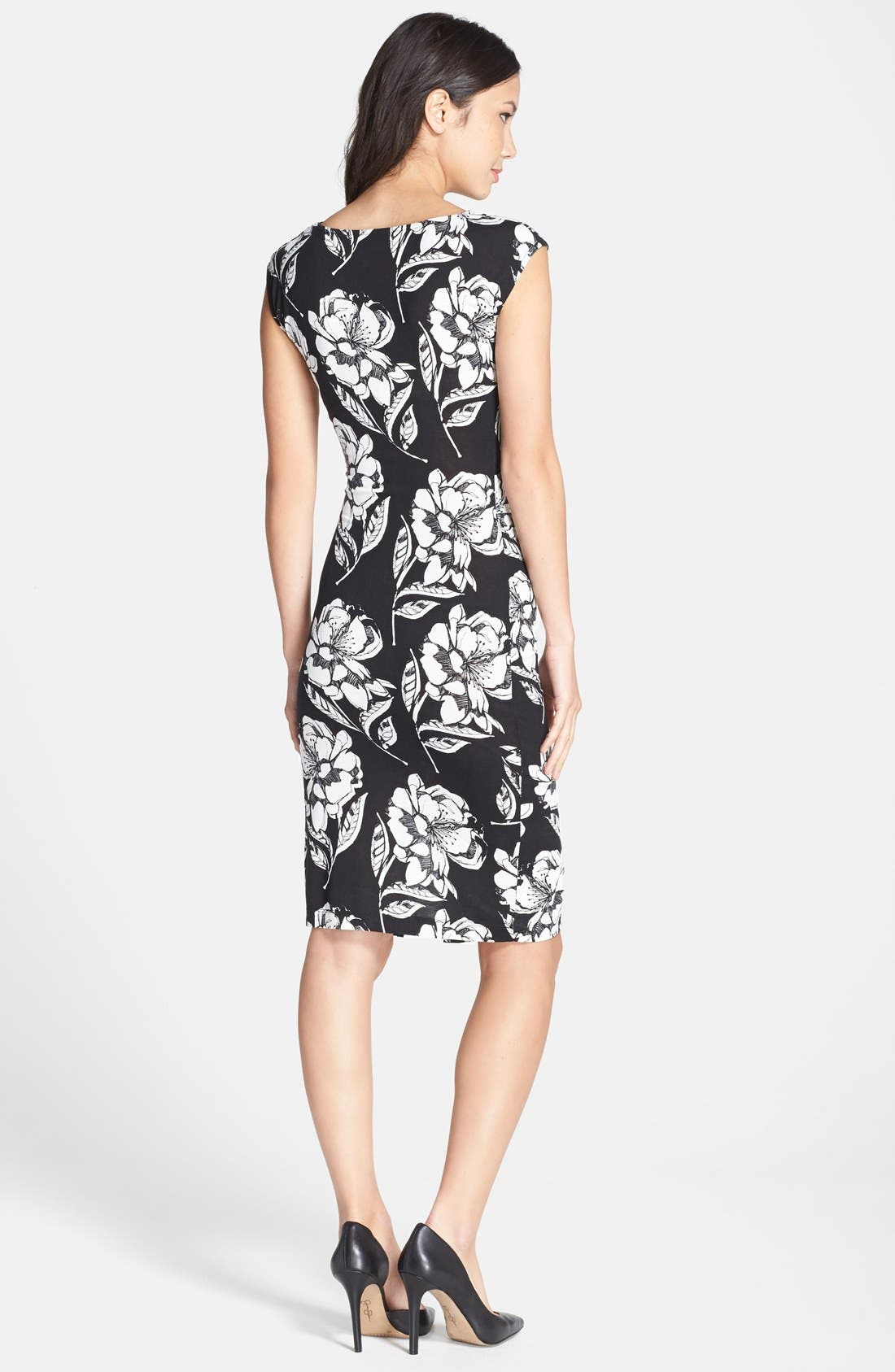 Alternate Image 2  - French Connection 'Shadow Bloom' Flower Print Jersey Sheath Dress