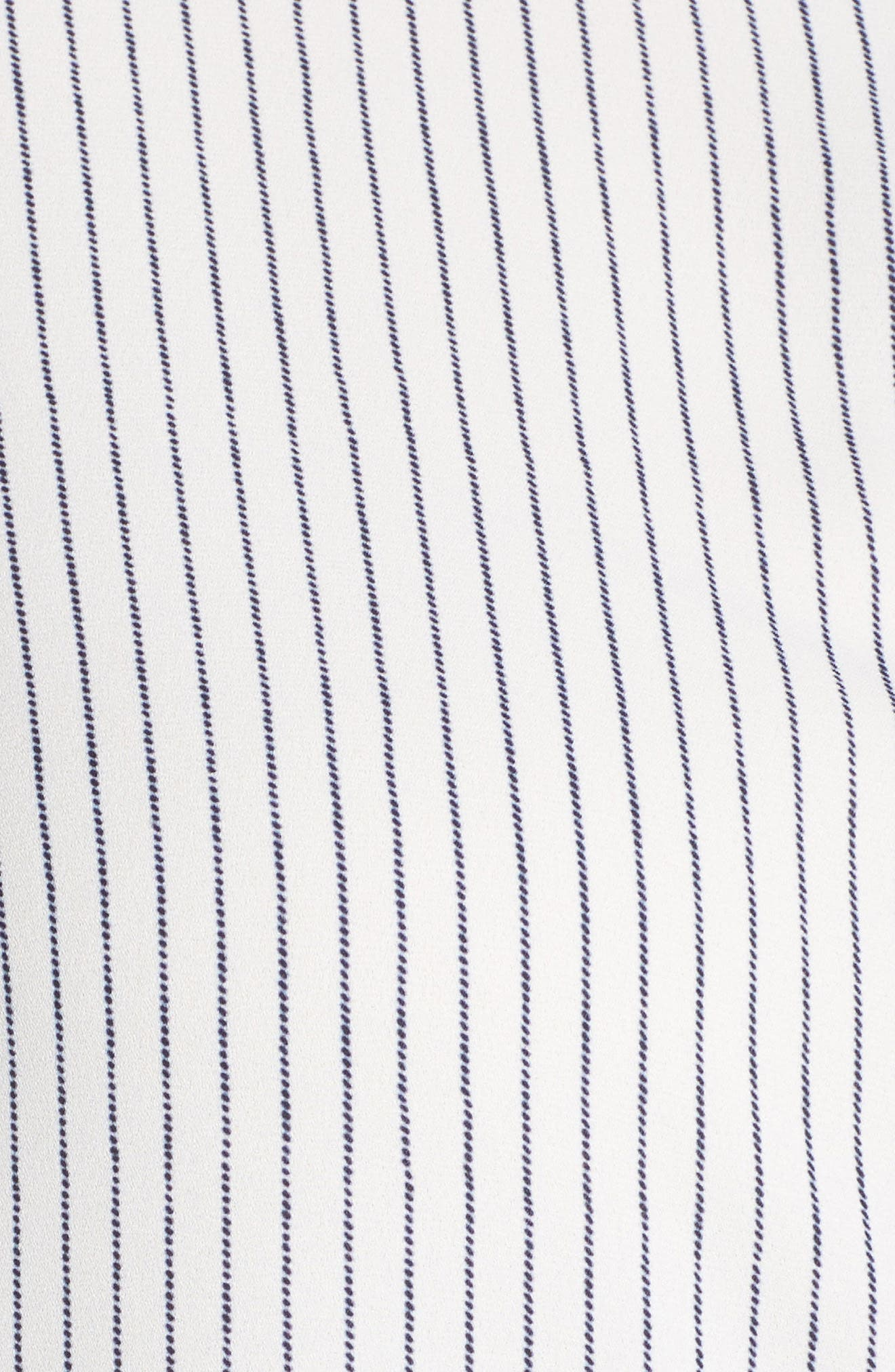 Alternate Image 5  - RACHEL Rachel Roy High/Low Pinstripe Shirt (Plus Size)