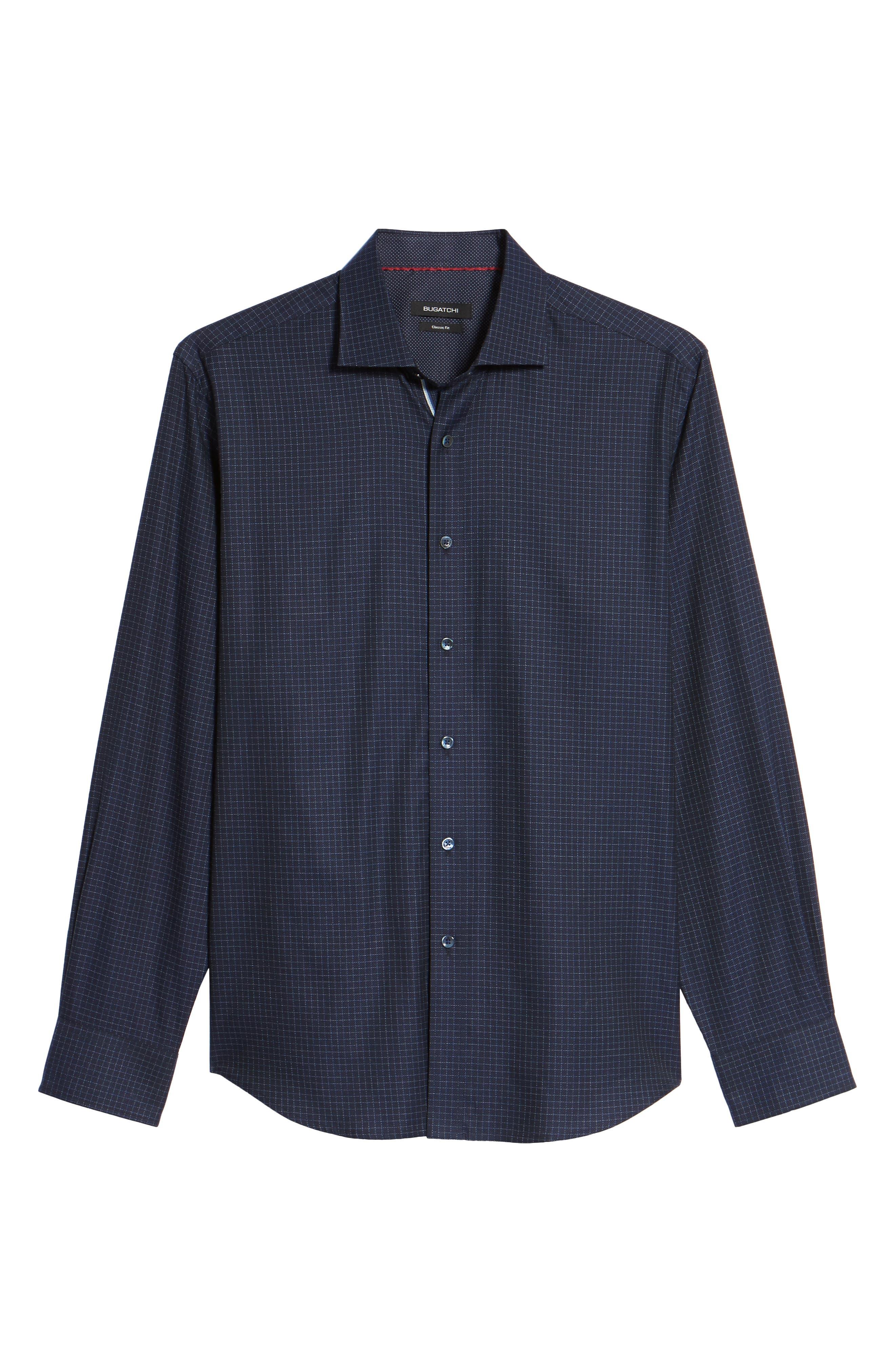 Classic Fit Sport Shirt,                             Alternate thumbnail 6, color,                             Midnight
