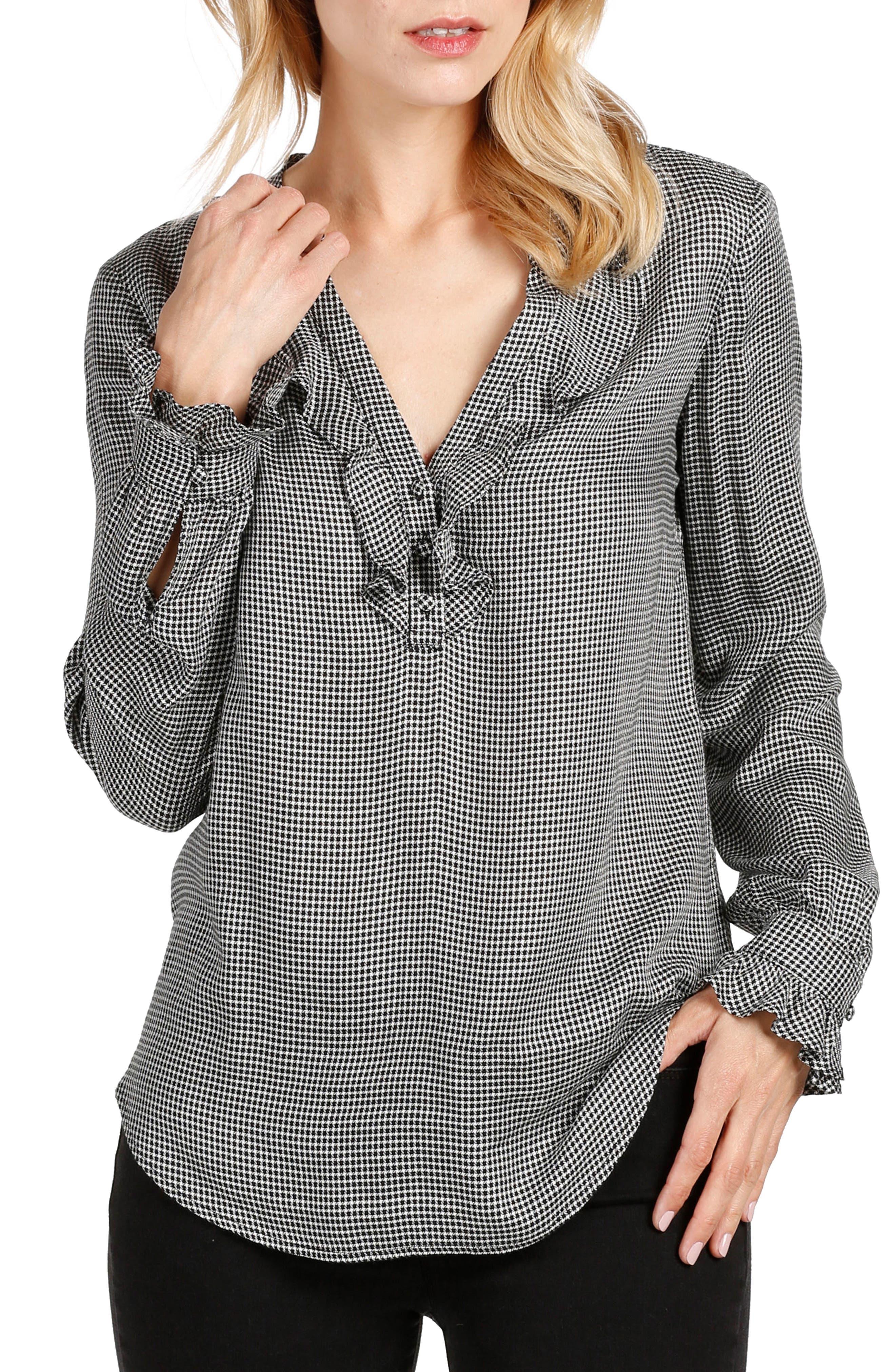 PAIGE Amalfi Ruffle Shirt
