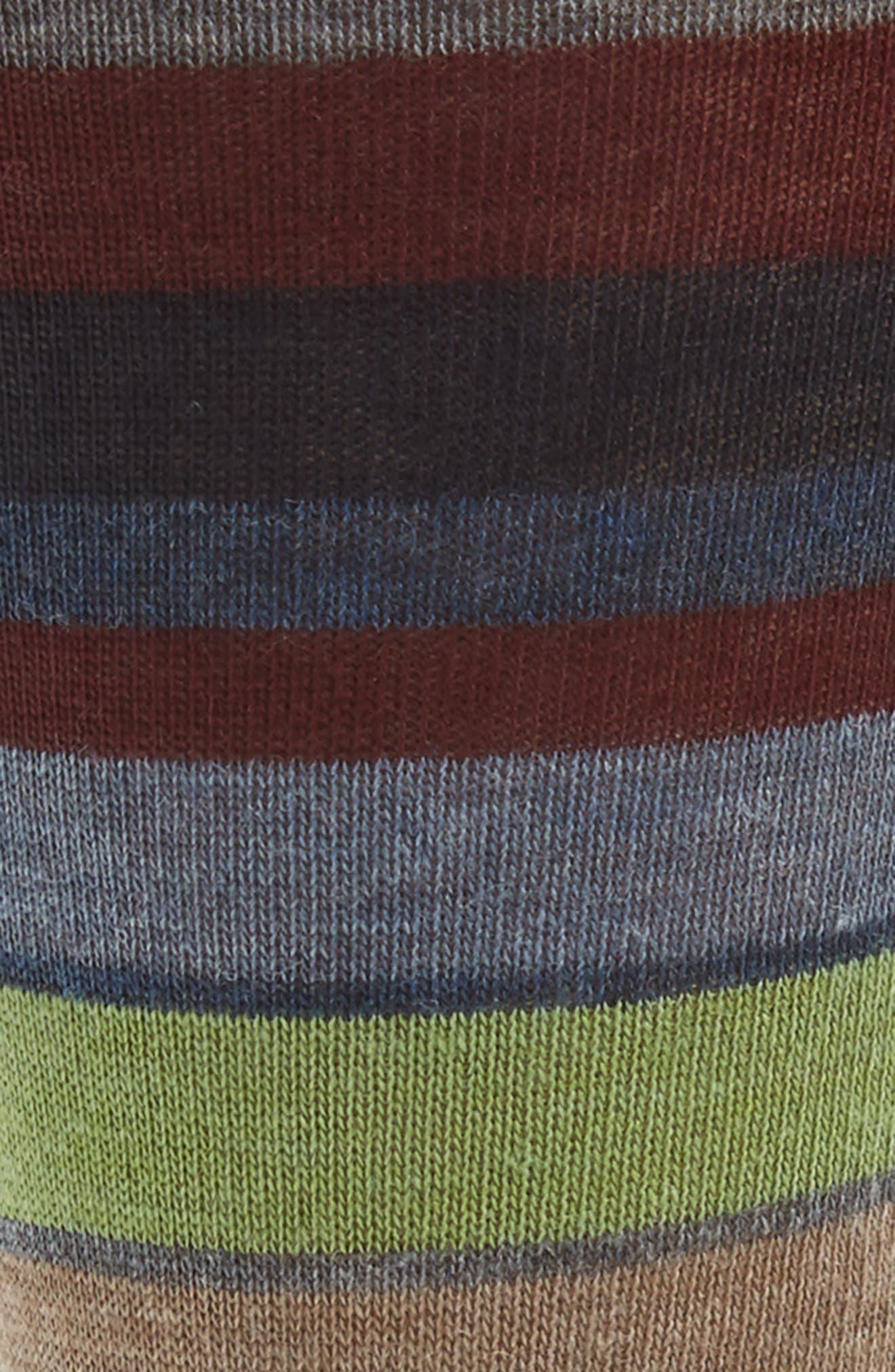 Multistripe Socks,                             Alternate thumbnail 2, color,                             Denim