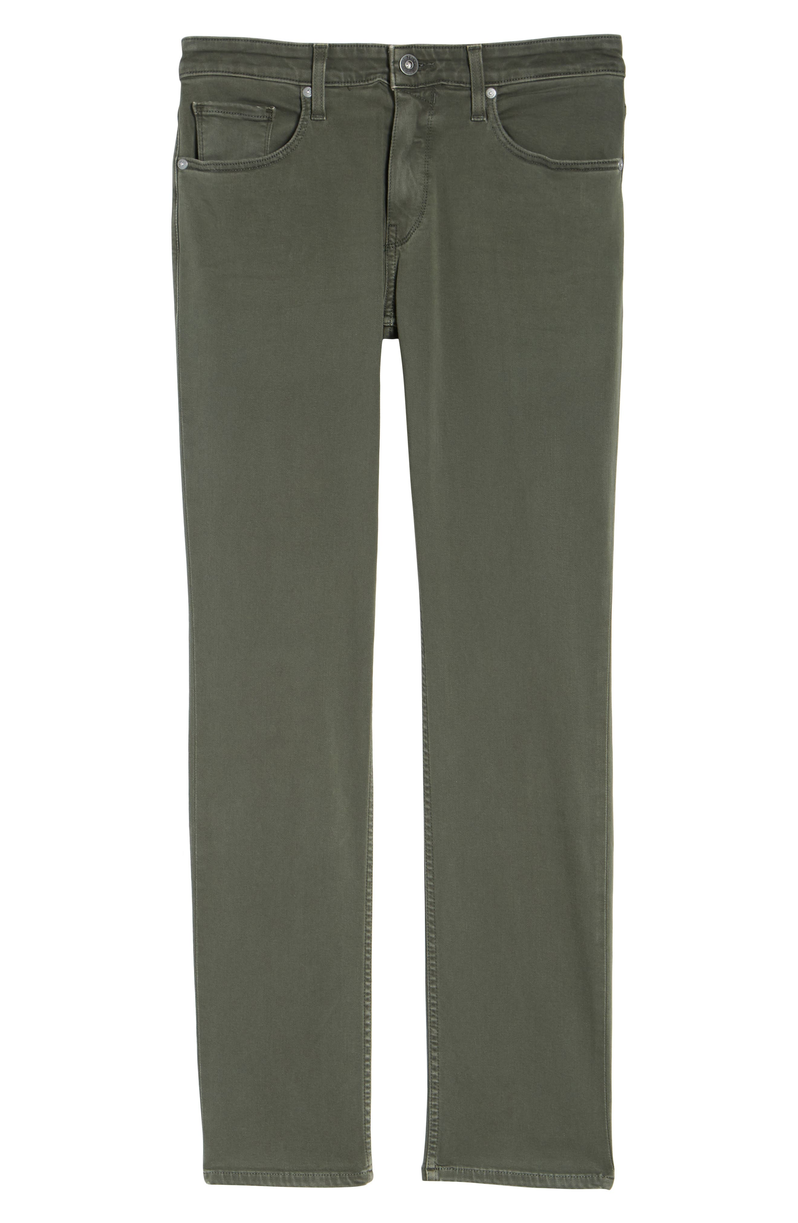 Transcend - Federal Slim Straight Leg Jeans,                             Alternate thumbnail 6, color,                             Vintage Green Fields