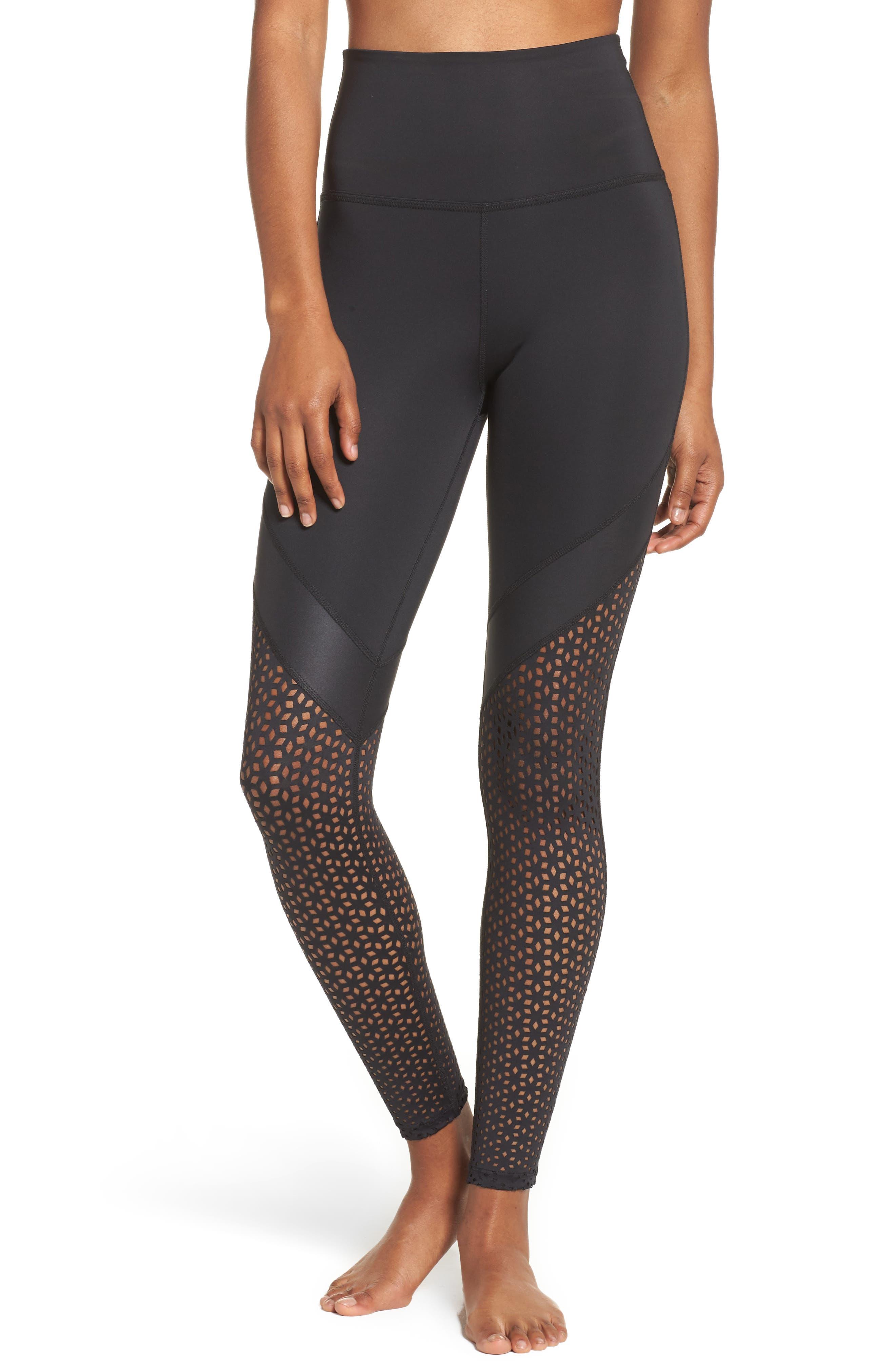 Perfect Angles High Waist Leggings,                         Main,                         color, Black