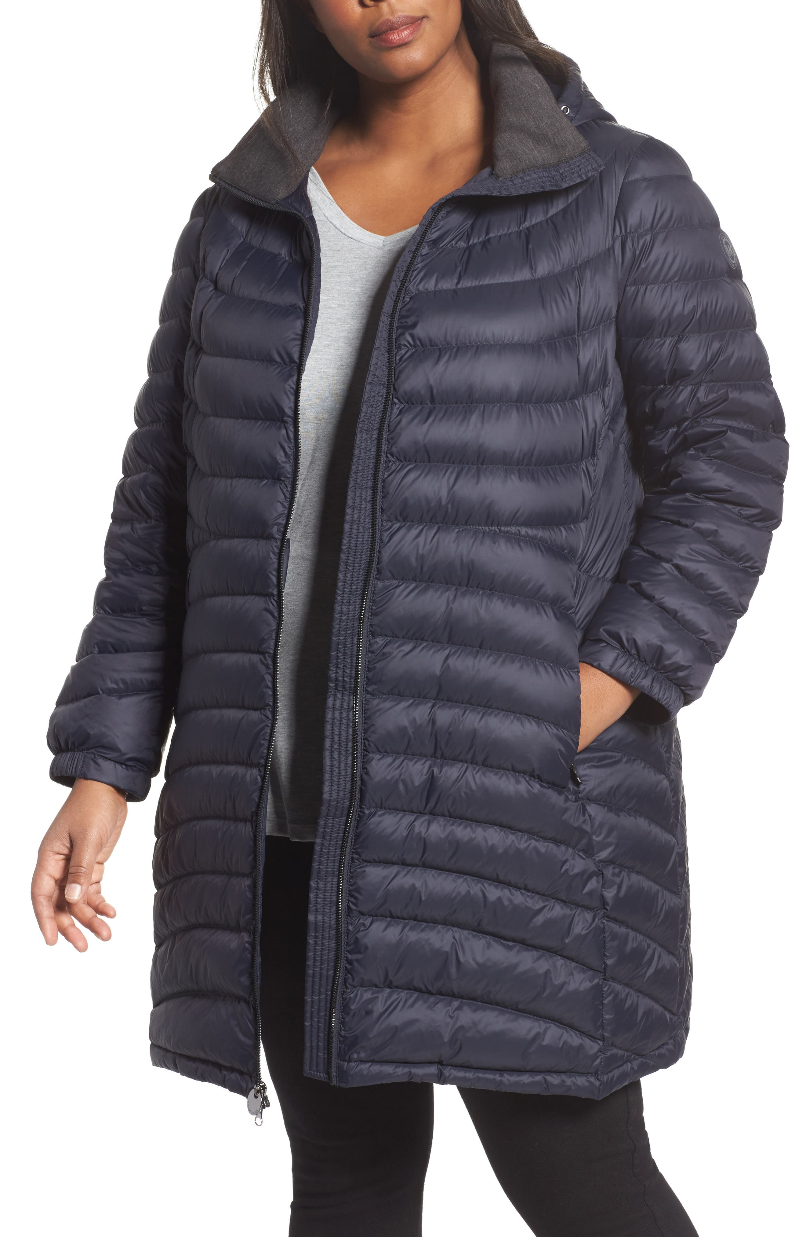 MICHAEL Michael Kors Packable Down Coat (Plus Size)