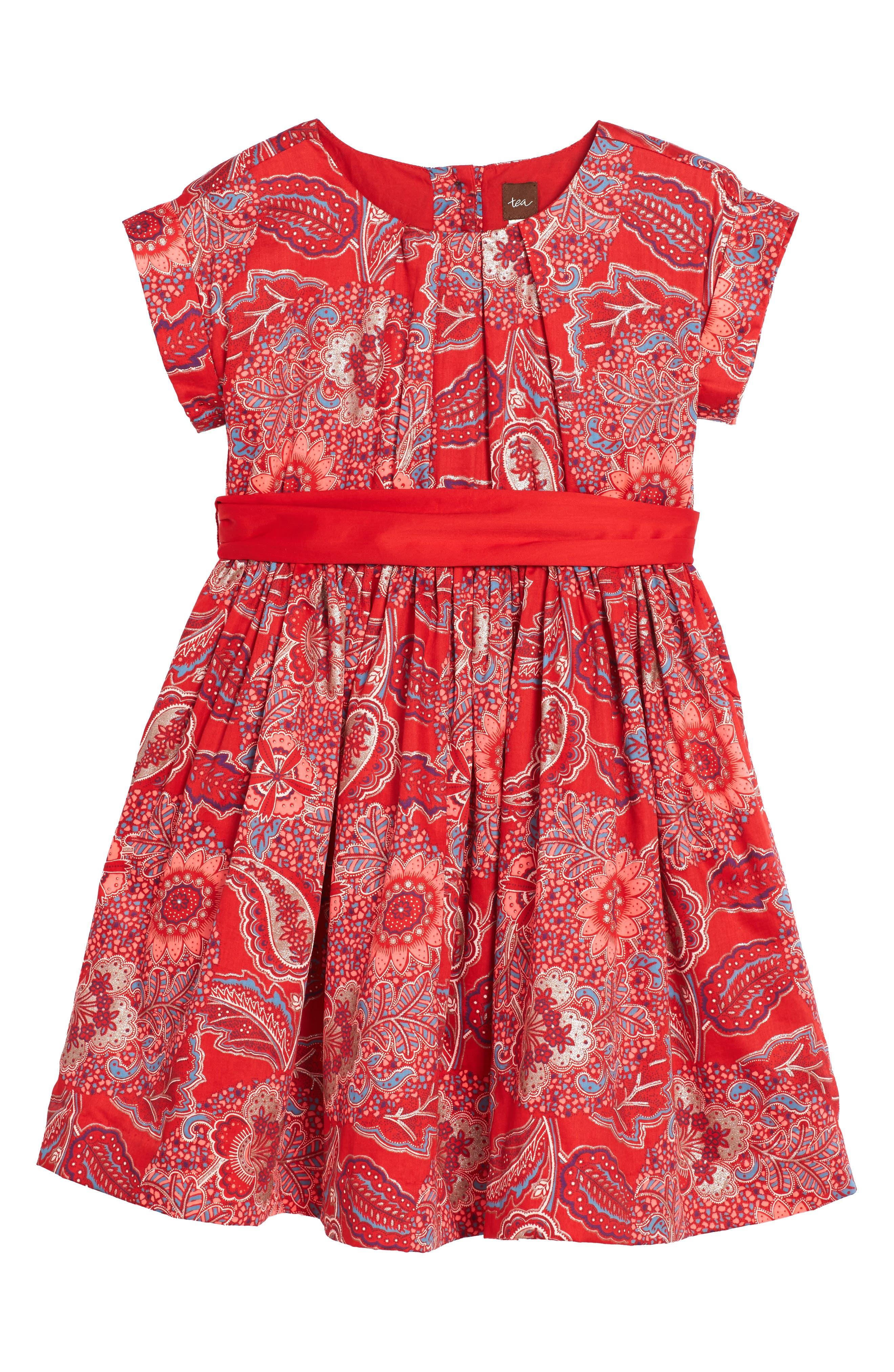 Main Image - Tea Collection Adaira Sash Dress (Toddler Girls, Little Girls & Big Girls)