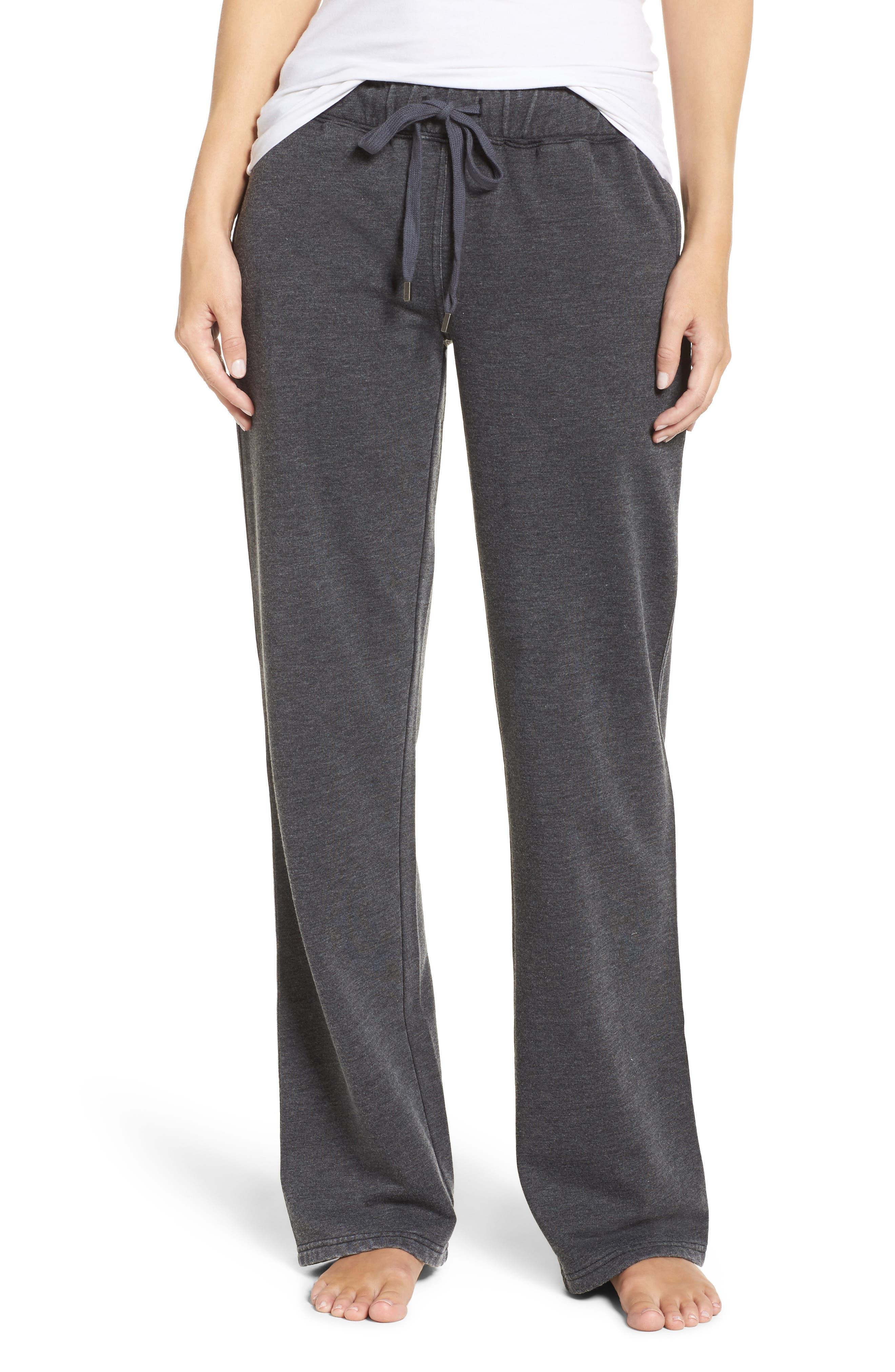 Cora Lounge Pants,                         Main,                         color, Charcoal
